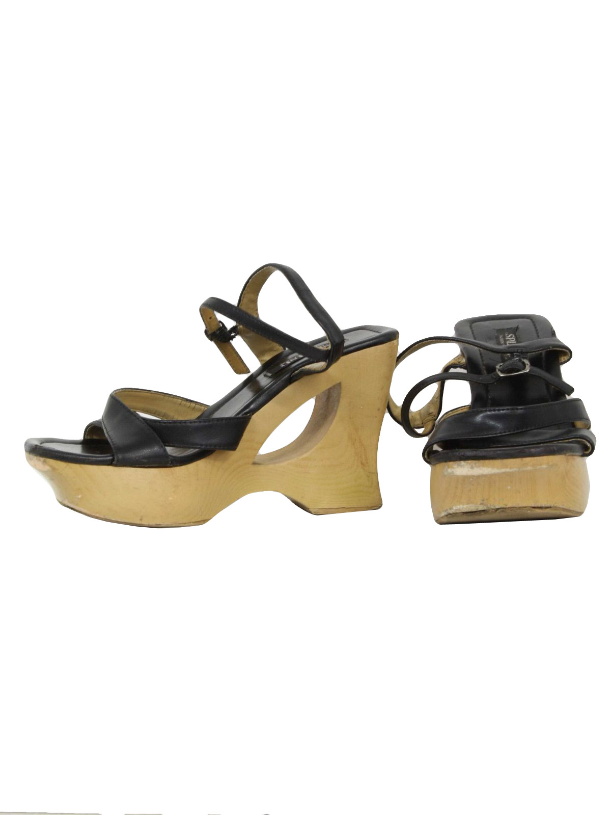 Rusty Gold Block Shoes For Women