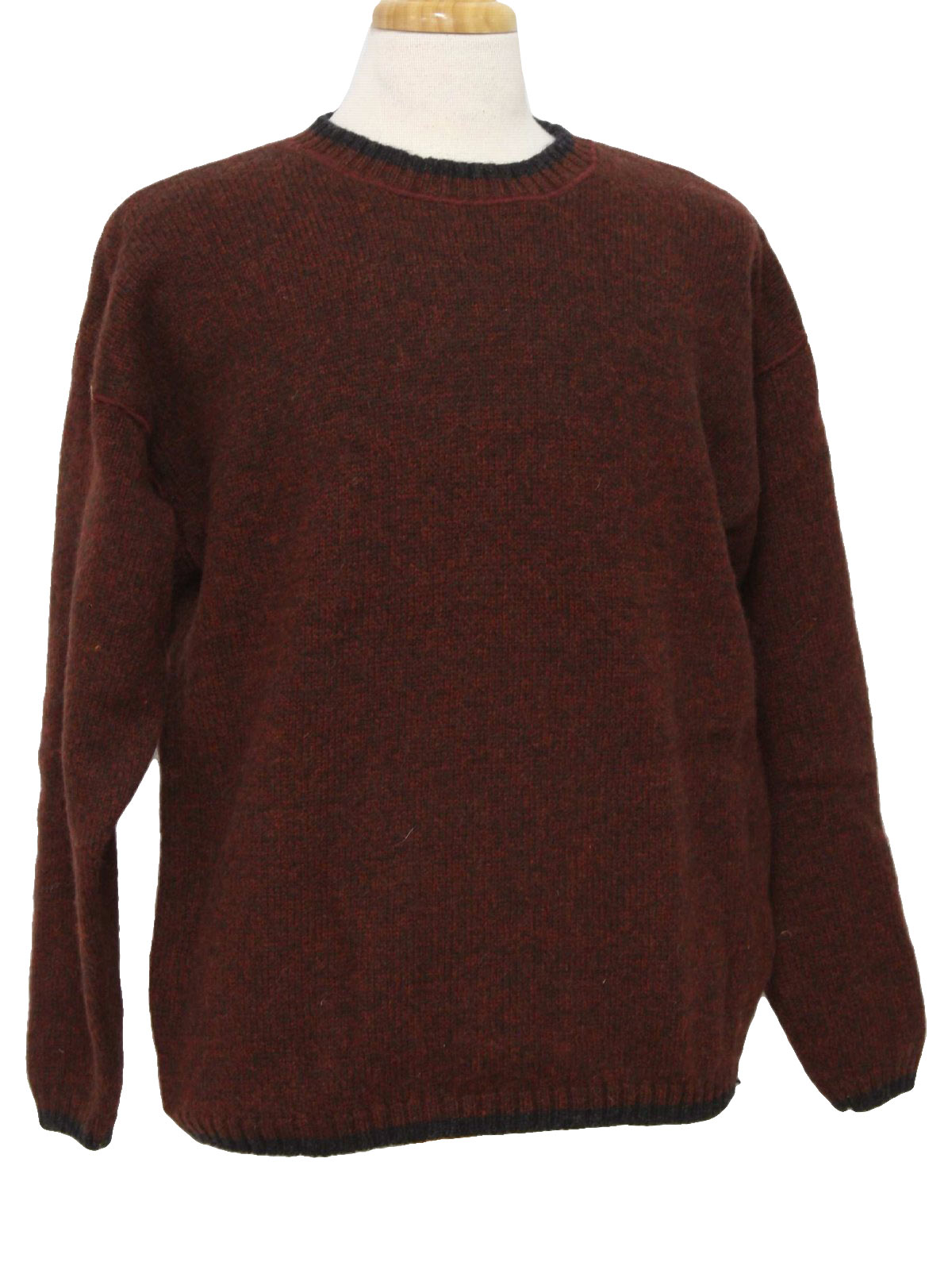 Vintage Woolrich 1990s Sweater: 90s -Woolrich- Mens brick red and ...