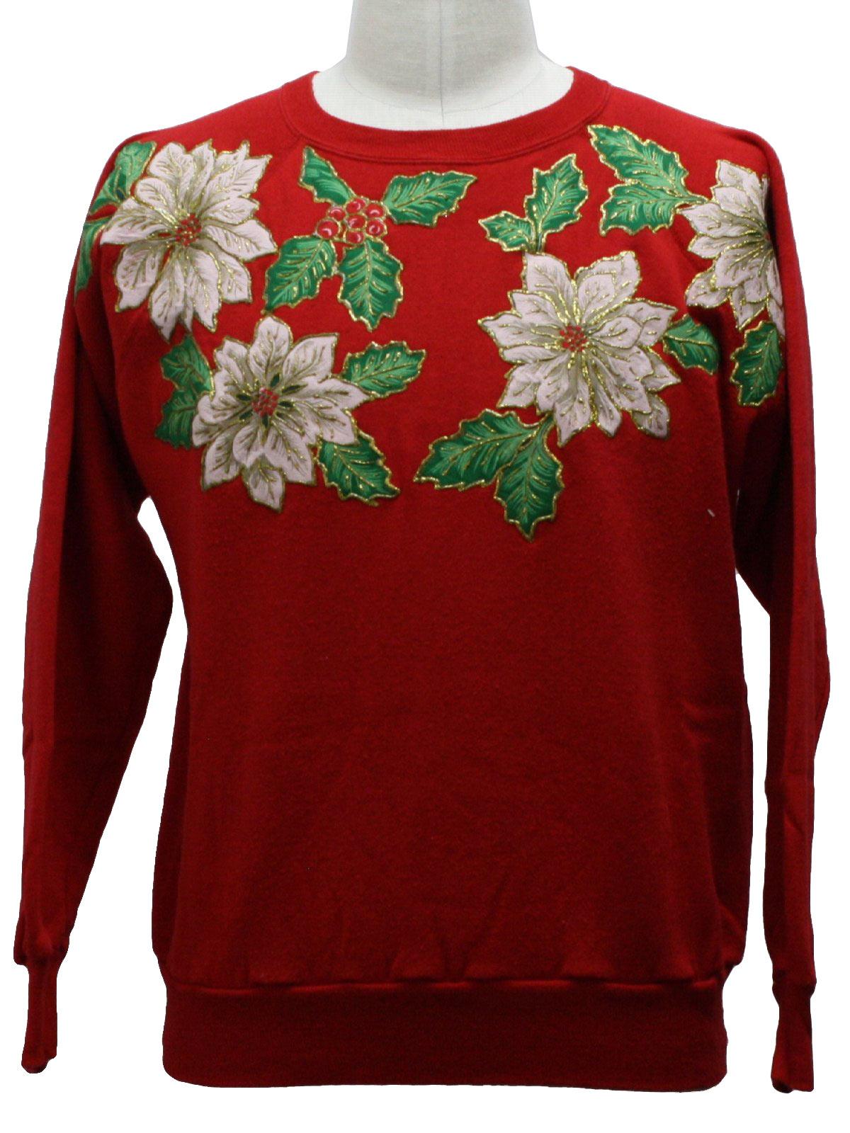 Ugly Christmas Sweatshirt: -Action- Unisex red, green ...