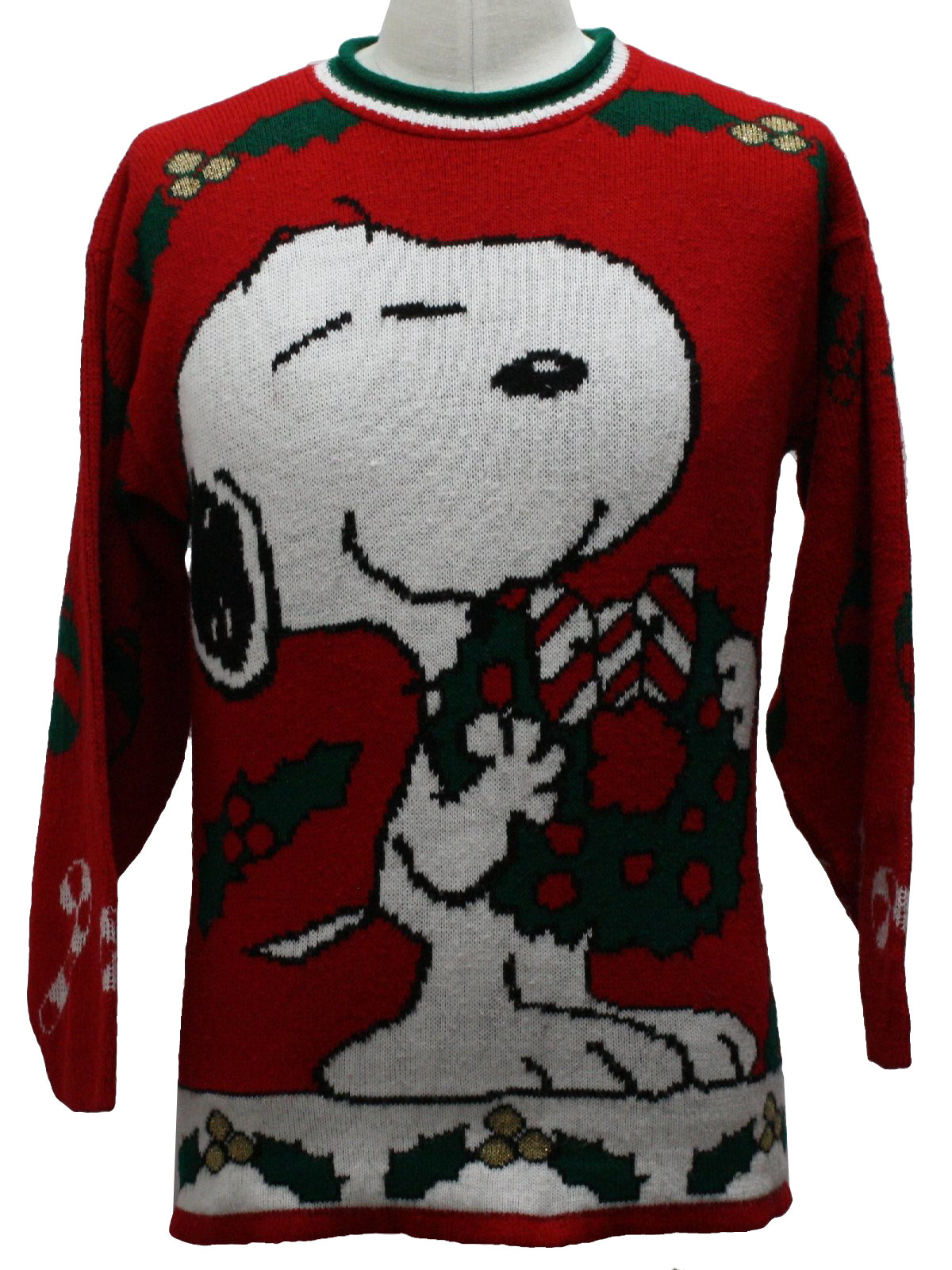 1980s Vintage Snoopy Ugly Christmas Sweater : 80s authentic ...