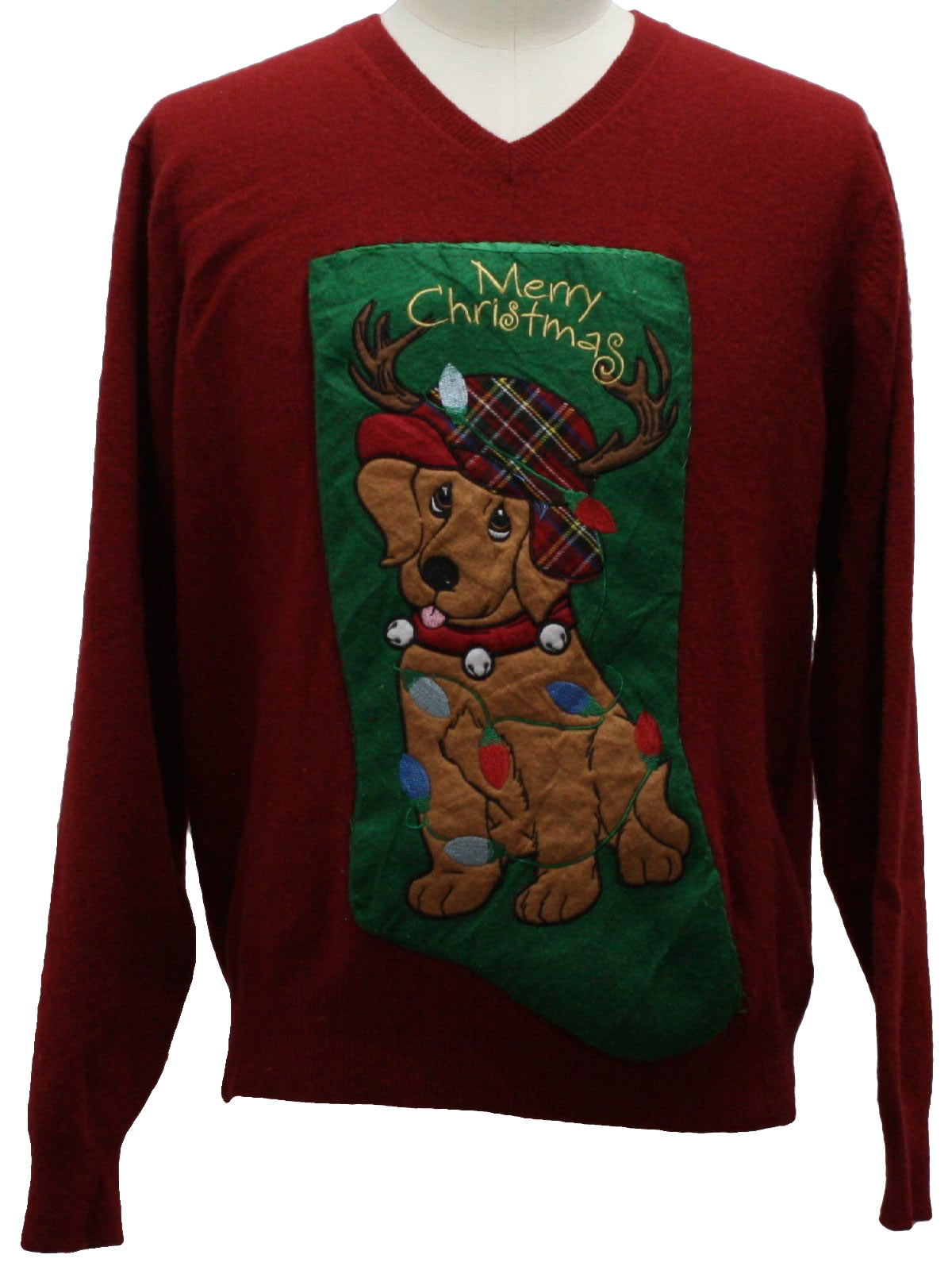 Pathetic Puppy Dog Ugly Christmas Sweater: -Eddie Bauer- Unisex ...