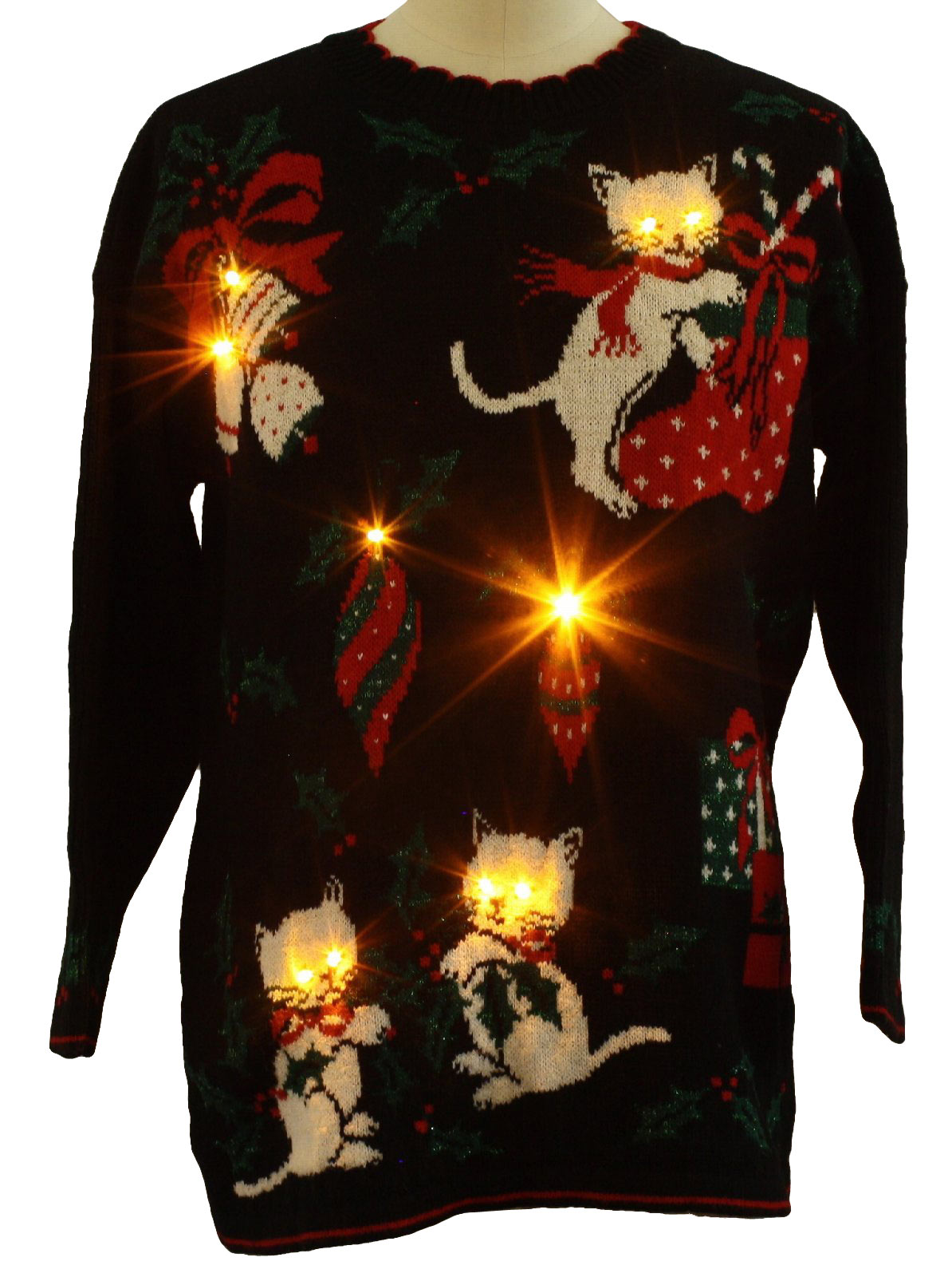 Kitten Christmas Sweater.20 Ugly Christmas Sweaters Featuring Cats With Which To