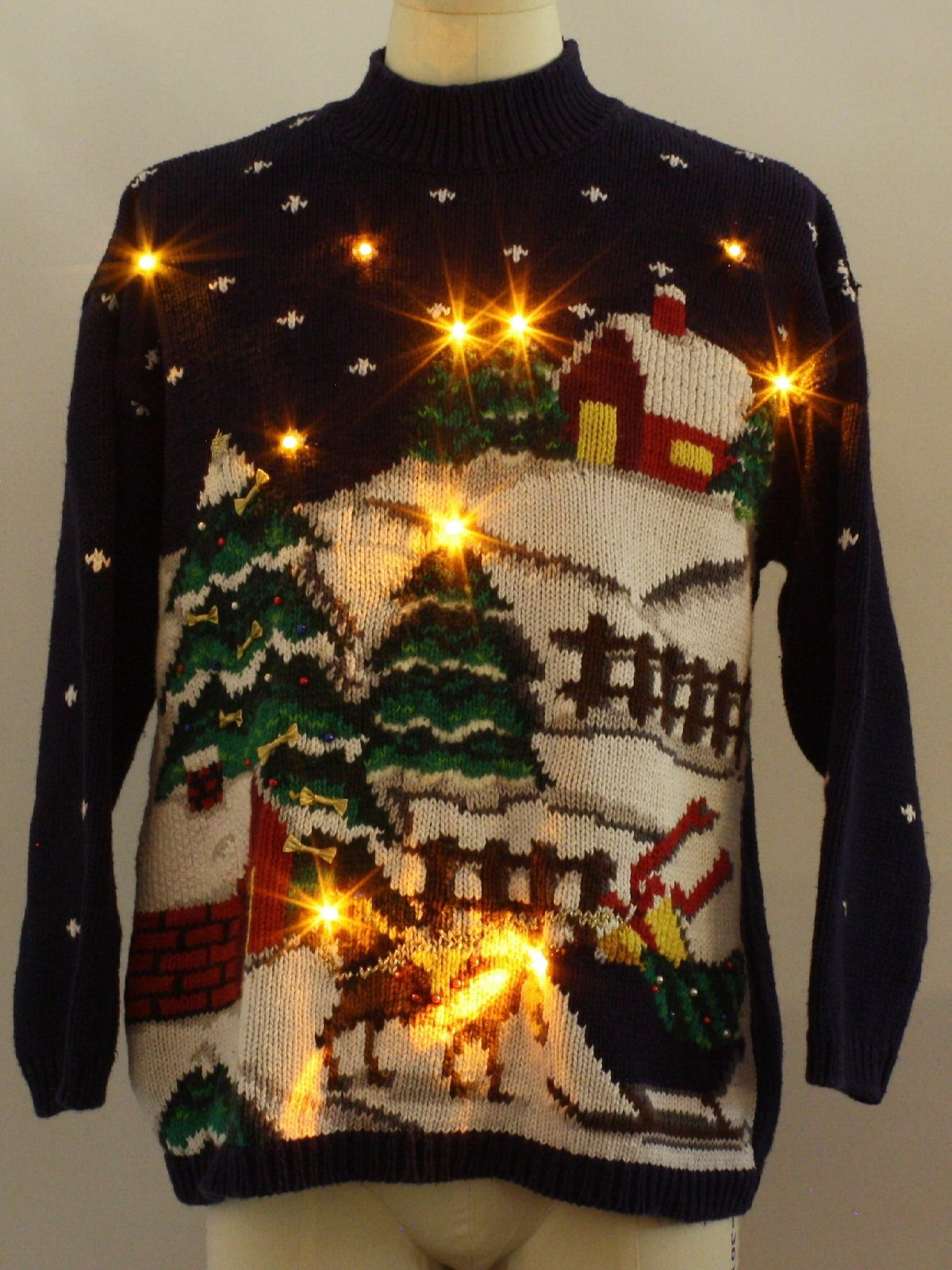 Lighted ugly christmas sweater