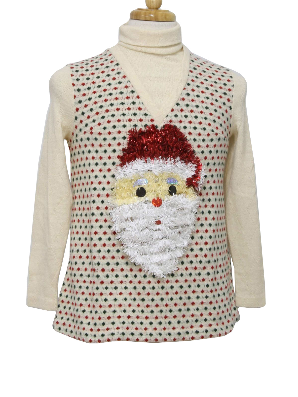Retro Seventies Womens Ugly Christmas Sweater: Authentic 70s -Marian Sue- Wom...