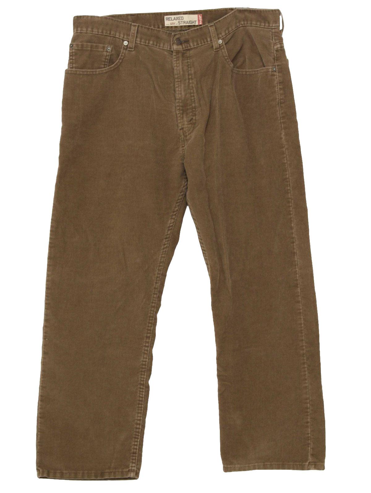 1990's Vintage Levis Pants: 90s -Levis- Mens light brown cotton ...