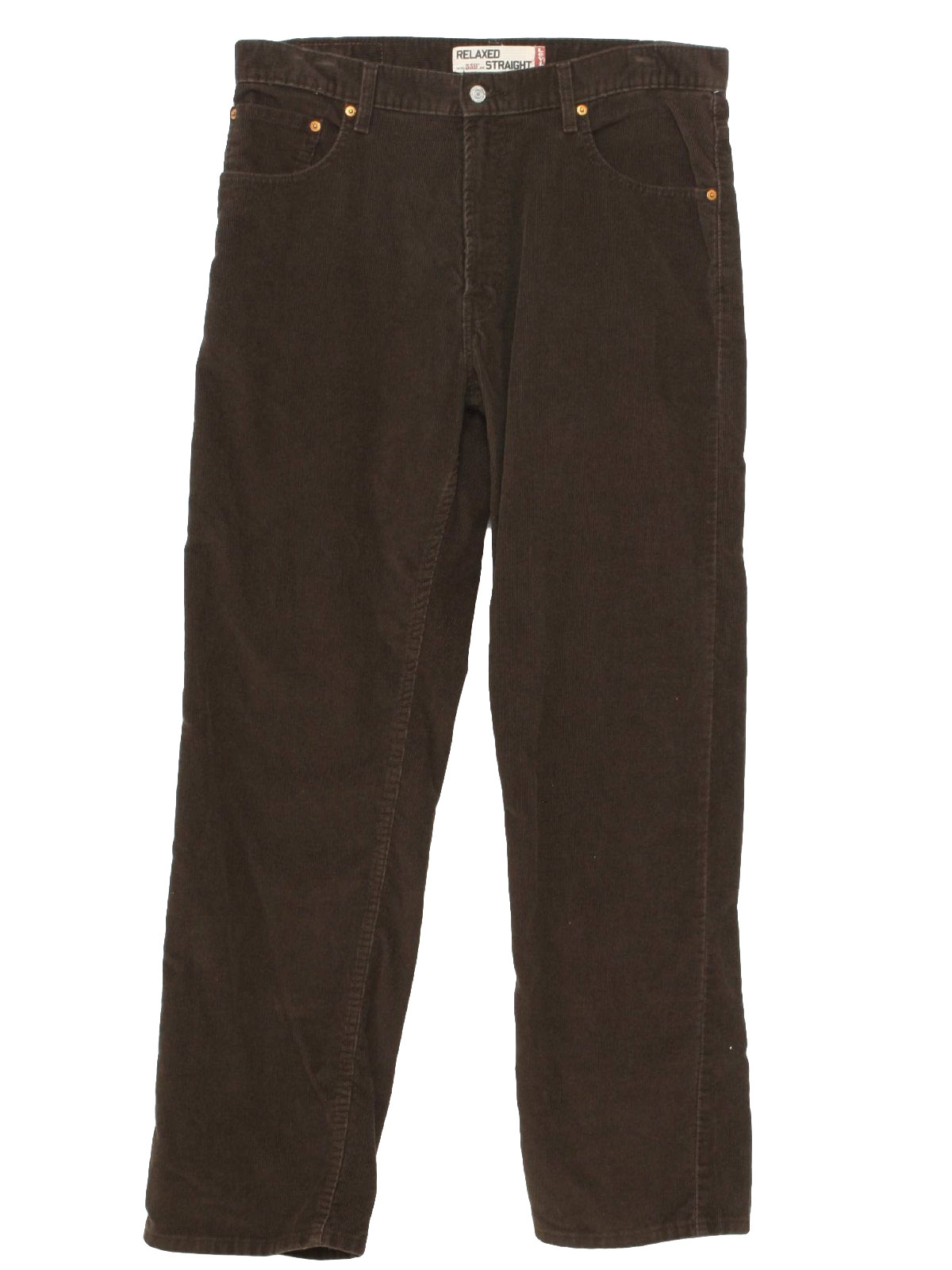 Dress womens clothing: Brown corduroy trousers mens