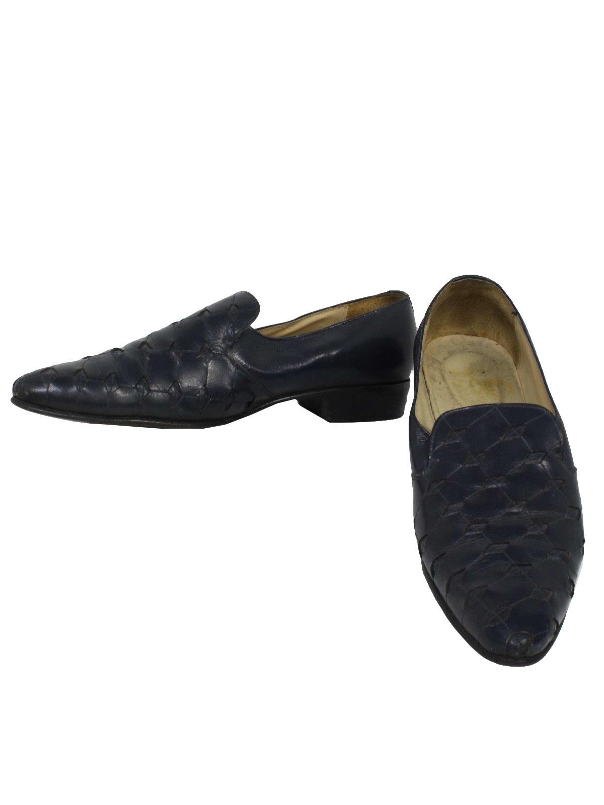 0de6cec362976 1980's Mens Leather Totally 80s Loafer Disco Pimp Shoes
