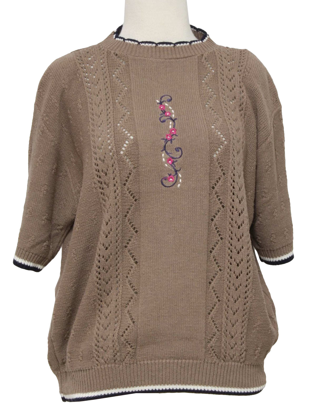 Nineties Missing Label Sweater: 90s -Missing Label- Womens taupe ...