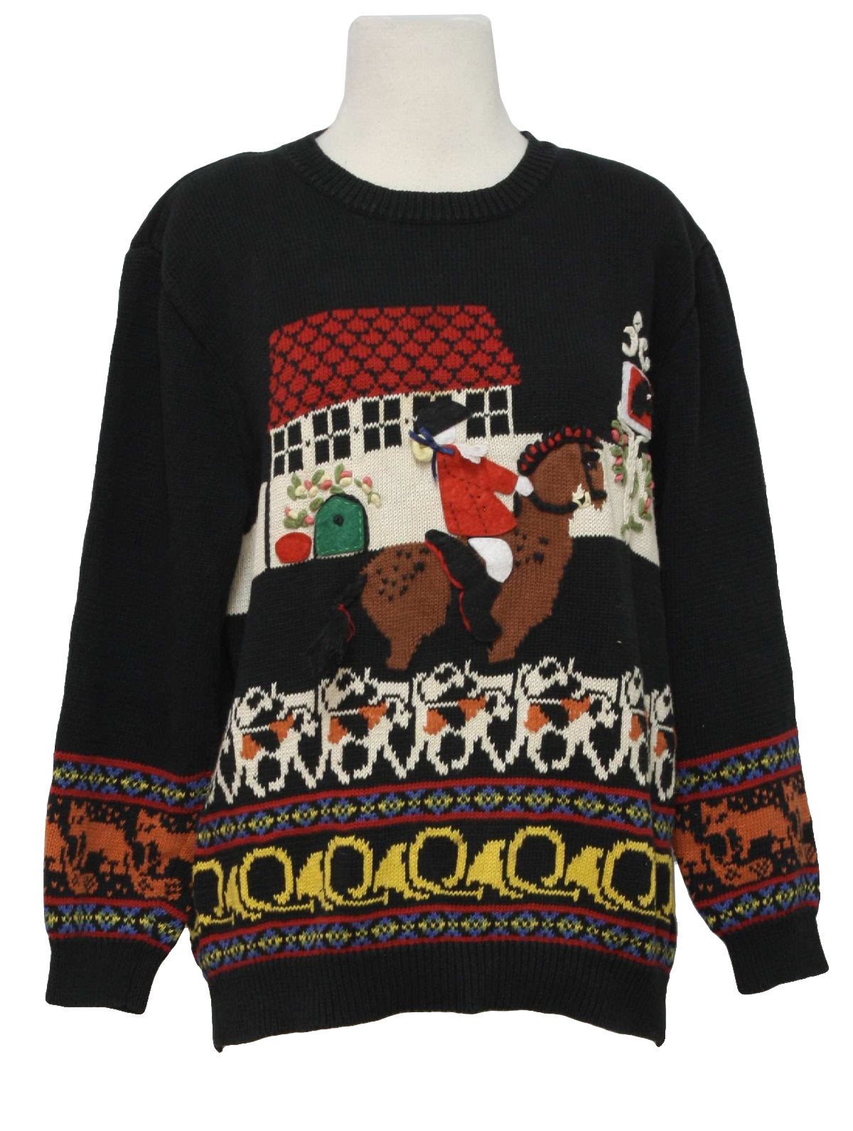 Black and Orange Ugly Sweater