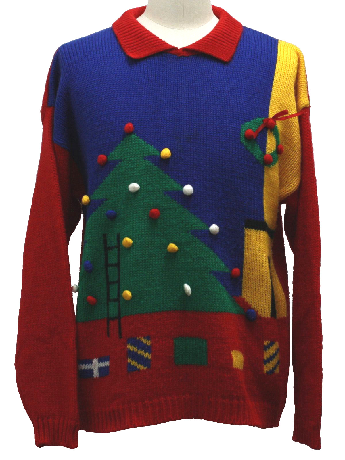 80s Vintage Hasting And Smith Ugly Christmas Sweater 80s