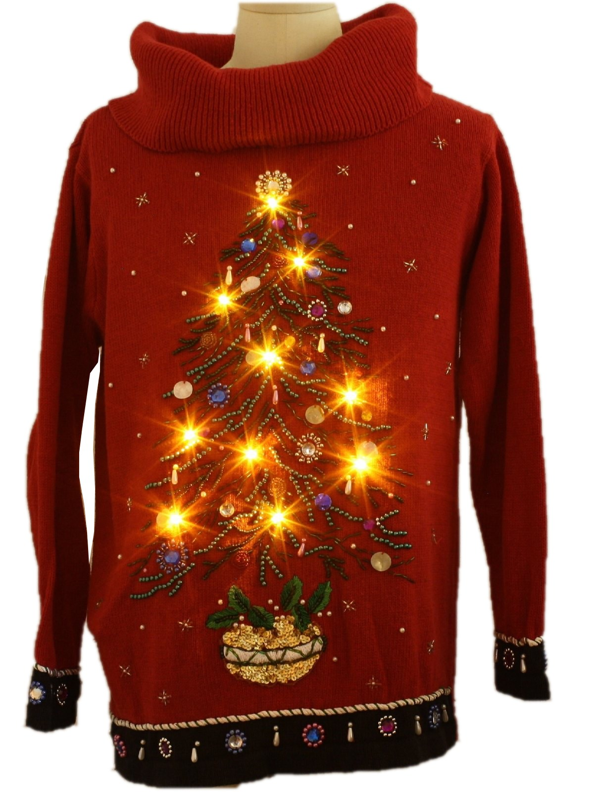 Womens Oversized Slouch Fit Ugly Lightup Christmas Cocktail ...