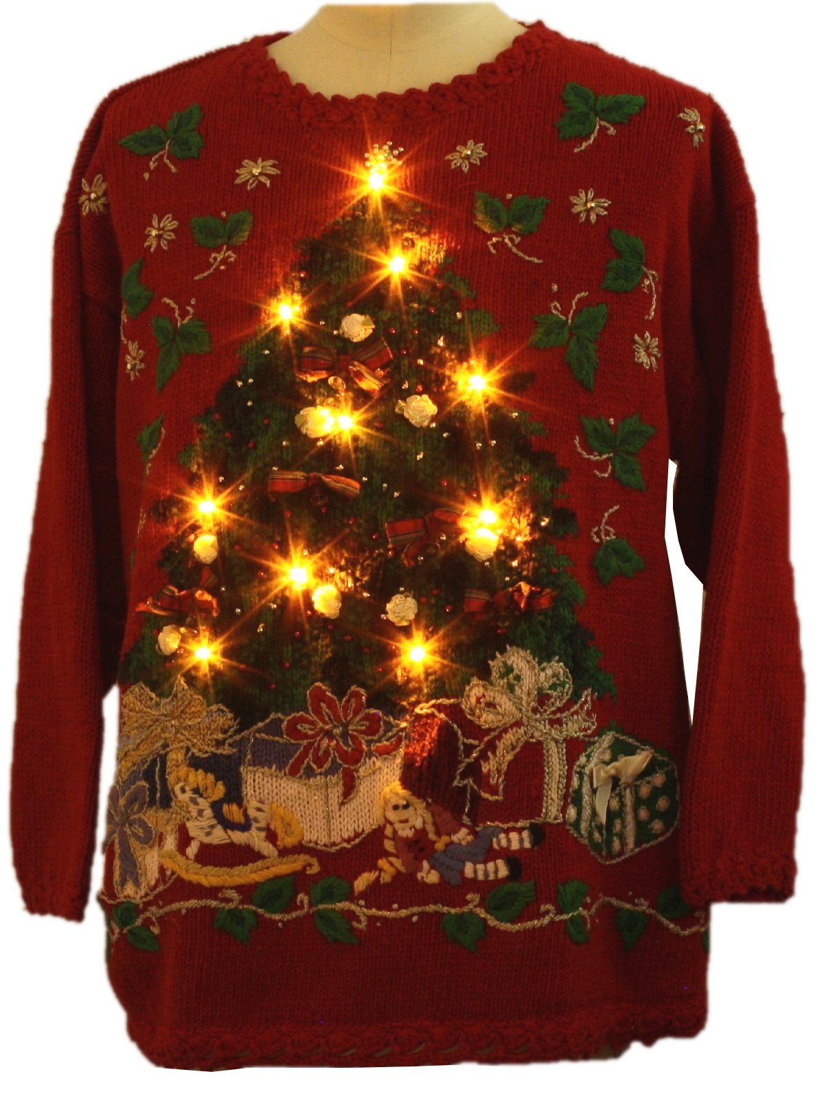 Ugly Lightup Christmas Sweater Jacque Amp Koko Unisex Red