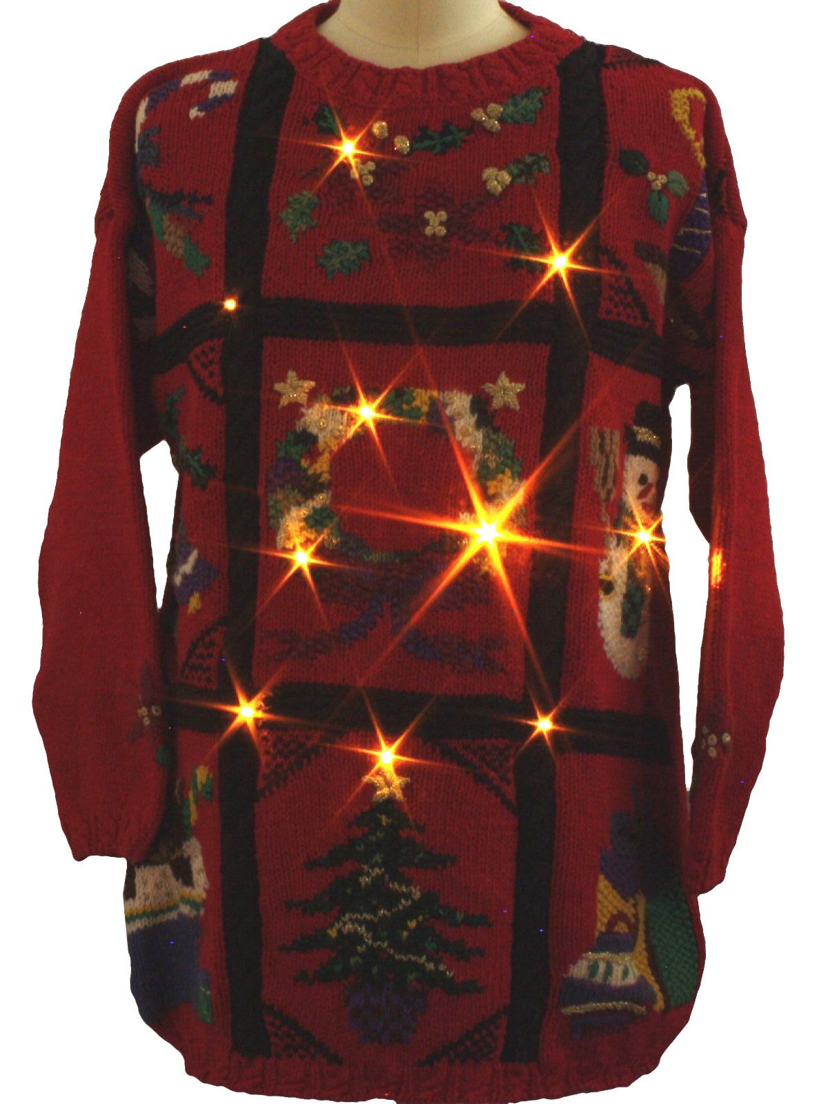 015843ee086 Lightup Ugly Christmas Sweater  -Honors Plus Size- Unisex red ...