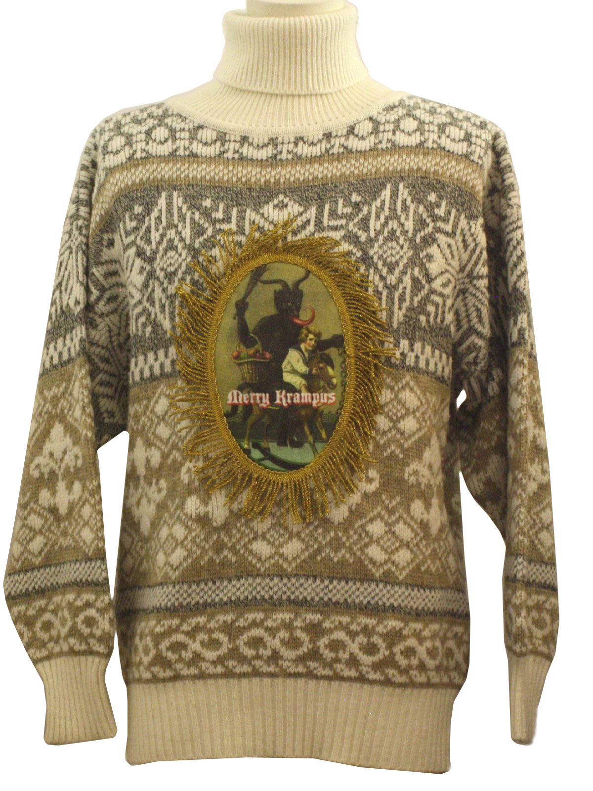 Retro 80 S Ugly Krampus Christmas Sweater 80s Authentic