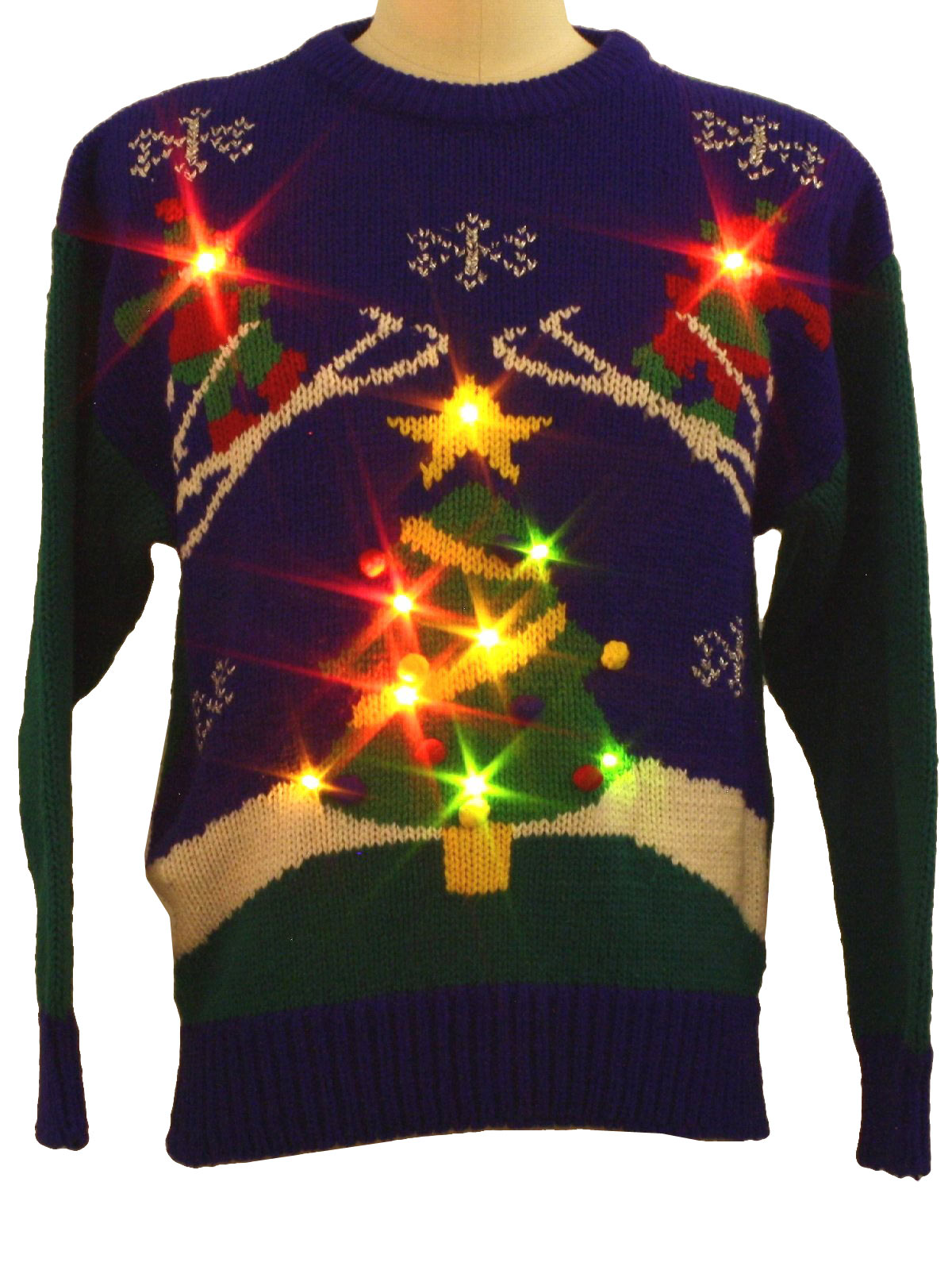 1980 S Totally 80s Lightup Ugly Christmas Sweater Totally