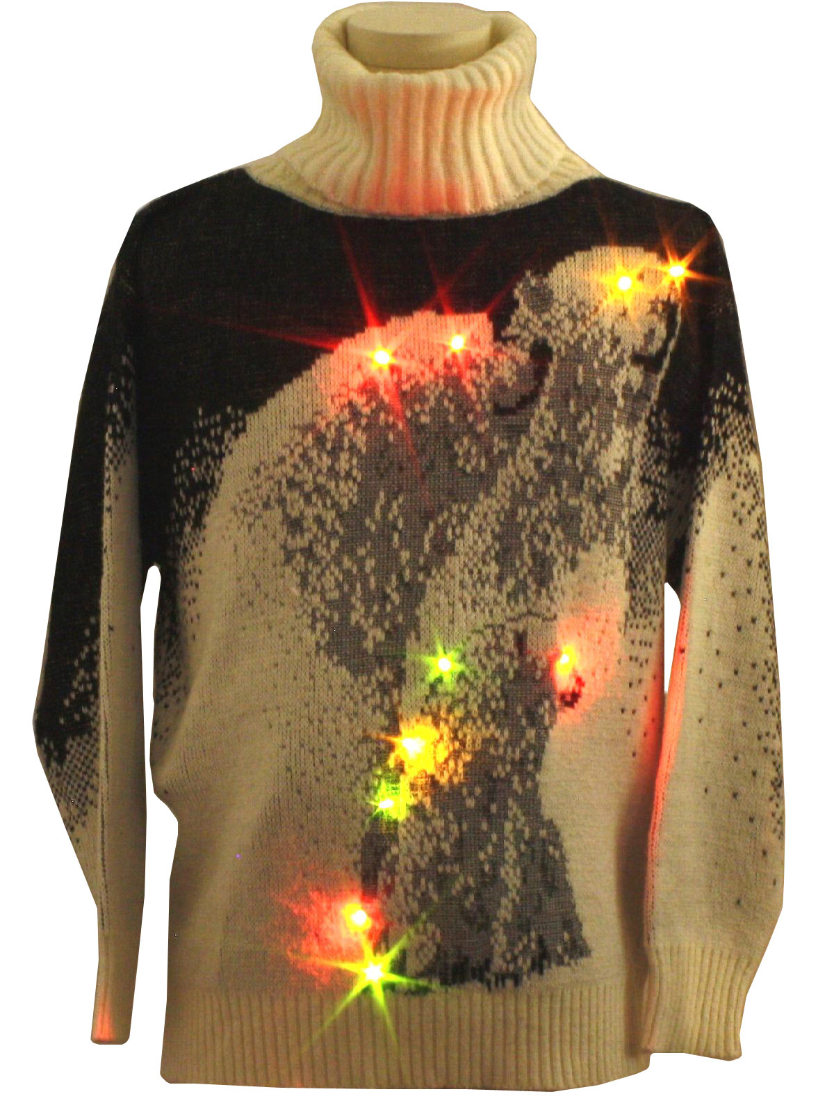 Womens Lightup Ugly Christmas Sweater: -Barbra Sue- Womens white and ...