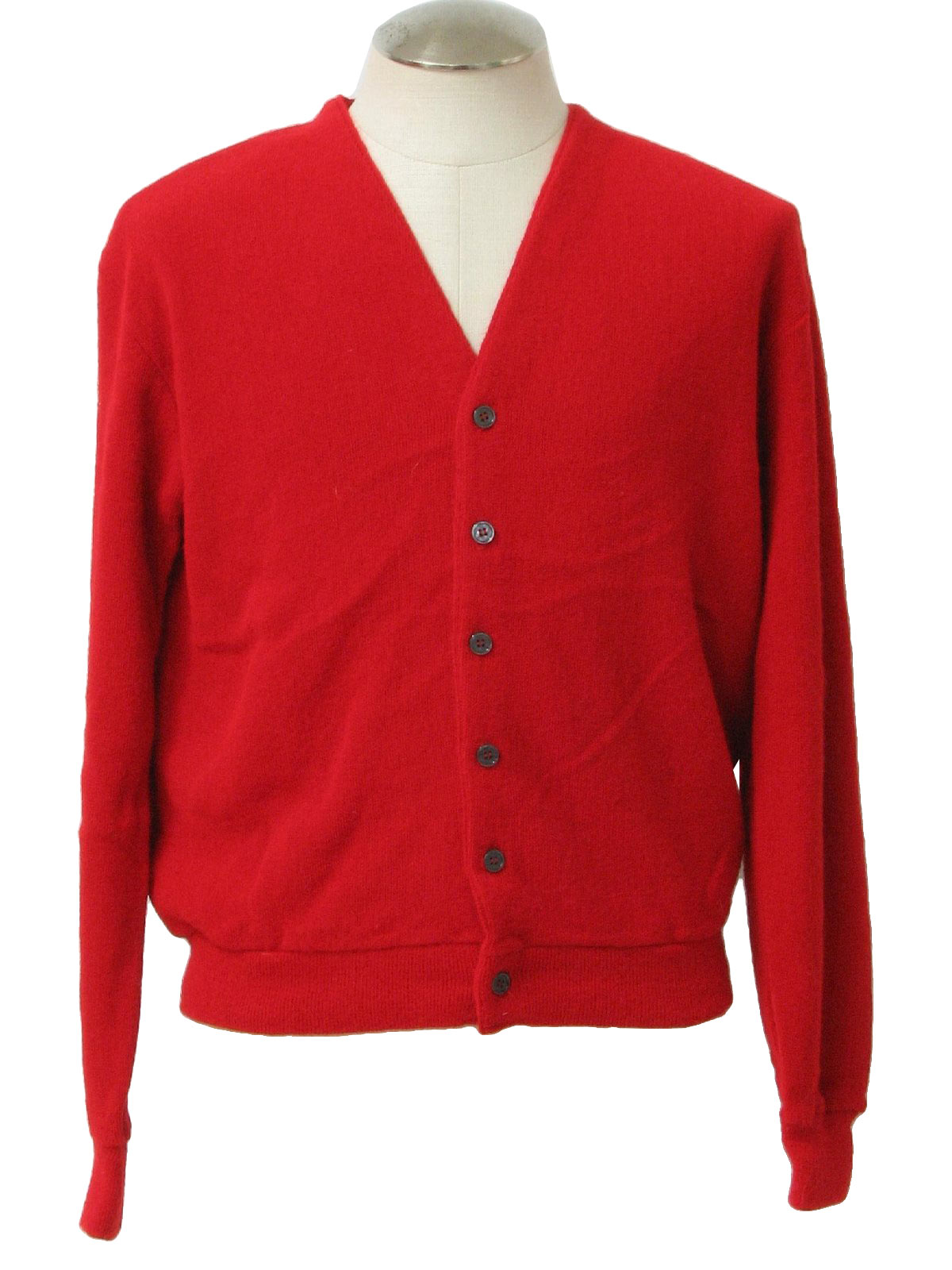 Ferrante 70's Vintage Caridgan Sweater: 70s -Ferrante- Mens red ...