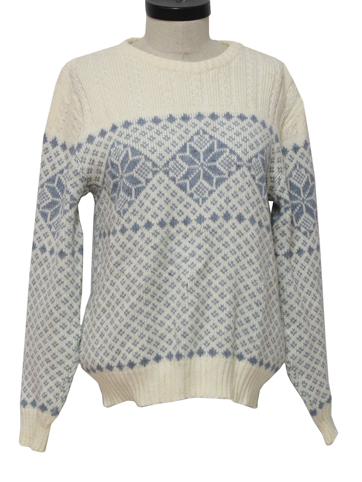 70s Retro Sweater: 70s -Rob Winter- Womens winter white and grey ...