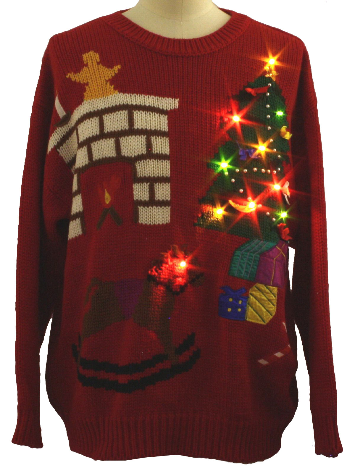 80 39 S Vintage Lightup Ugly Christmas Sweater 80s Authentic Vintage Hasting And Smith Unisex