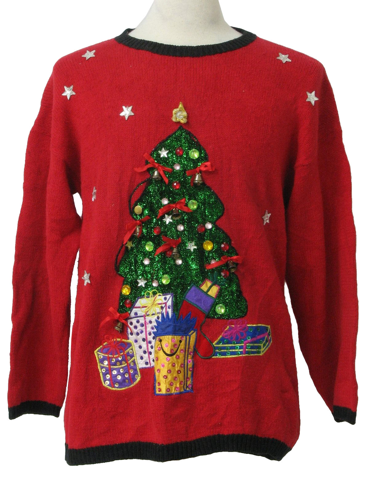 Ugly christmas sweater fashion only unisex red black for Over the top ugly christmas sweaters