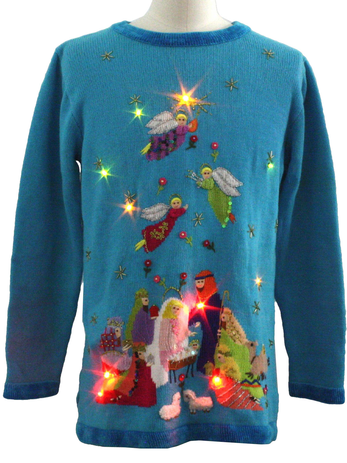 Womens Lightup Ugly Christmas Sweater: -Quacker Factory- Womens ...