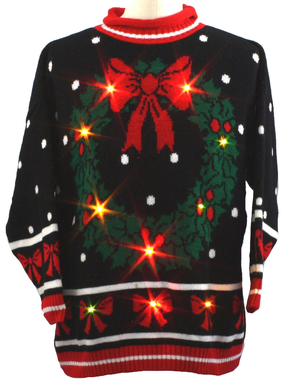 Knitwaves 80 S Vintage Lightup Ugly Christmas Sweater