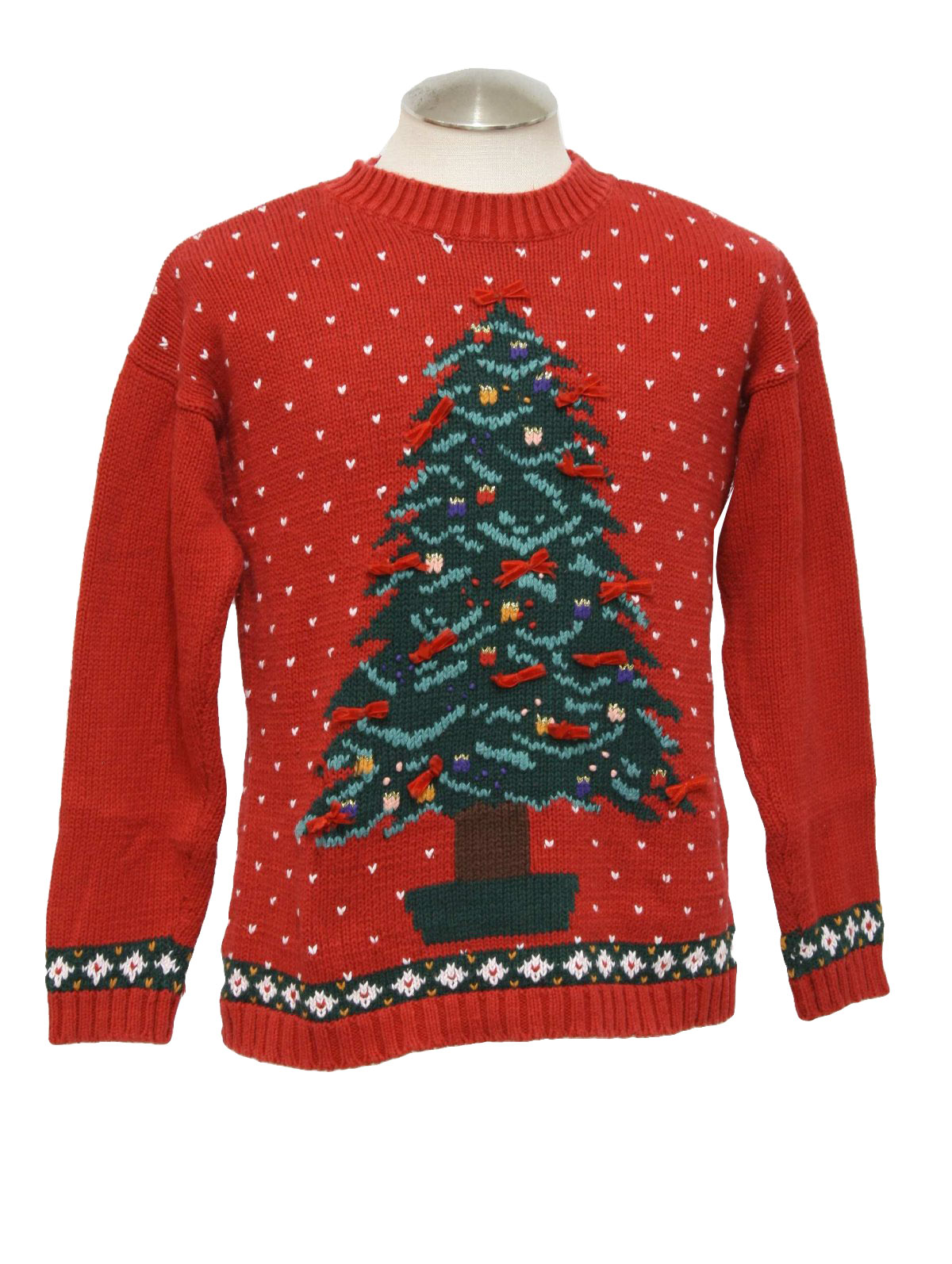 552509c45a48 Womens Ugly Christmas Sweater  -Lauren Rogers- Womens red