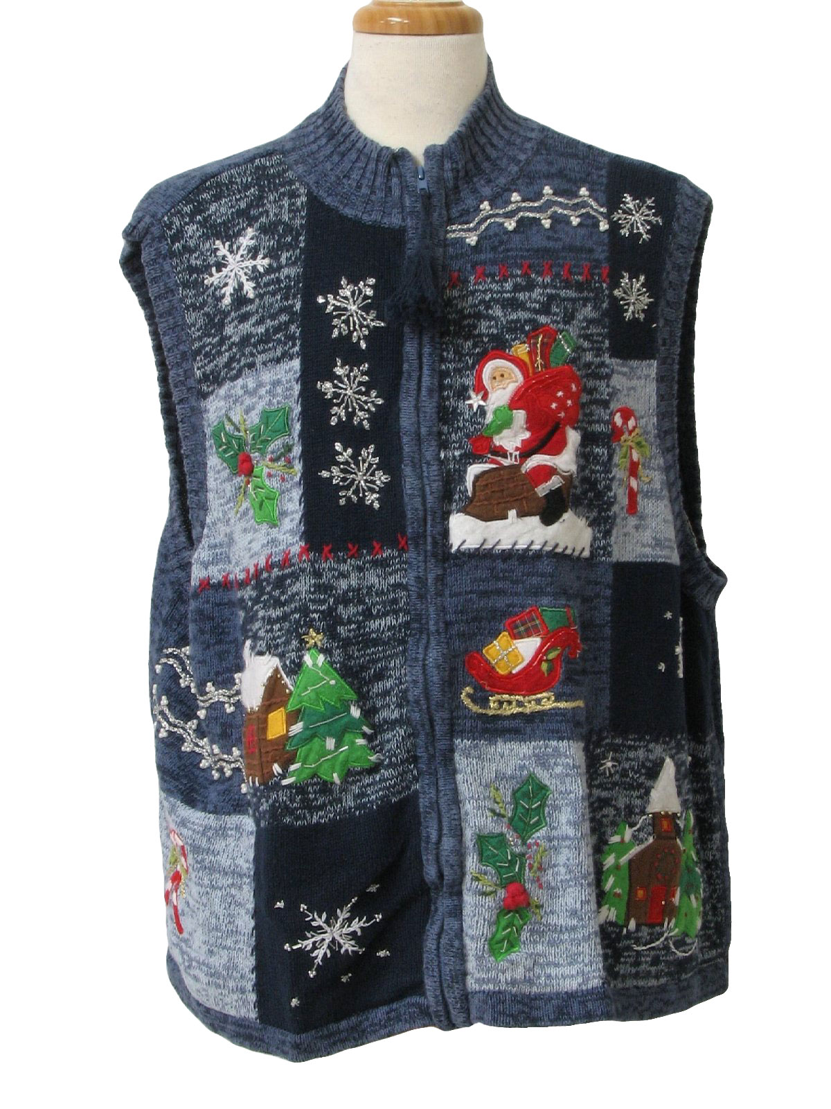 Ugly Christmas Sweater Vest: -White Stag- Unisex shades of ...