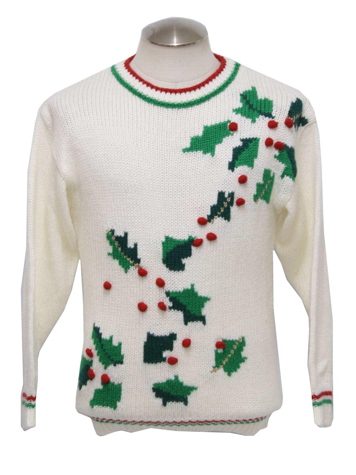 Ugly christmas sweater hasting smith unisex cream for Over the top ugly christmas sweaters