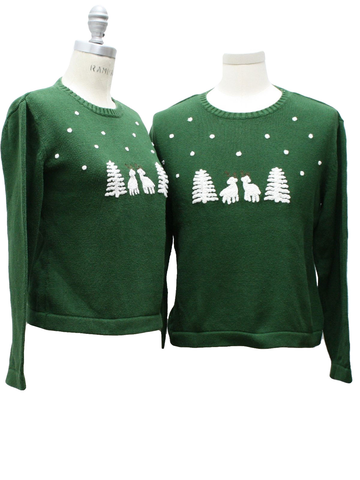 Couples Christmas Sweaters.Liz Claiborne Matching Pair Of Womens Ugly Christmas Sweaters