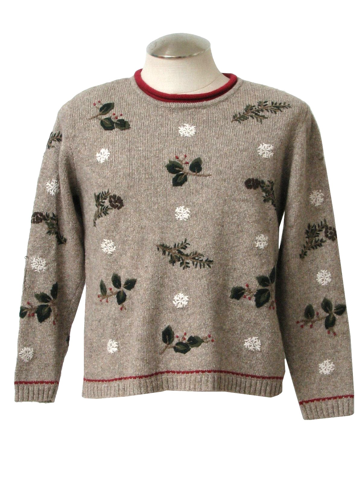 Womens ugly christmas sweater christopher banks for Over the top ugly christmas sweaters