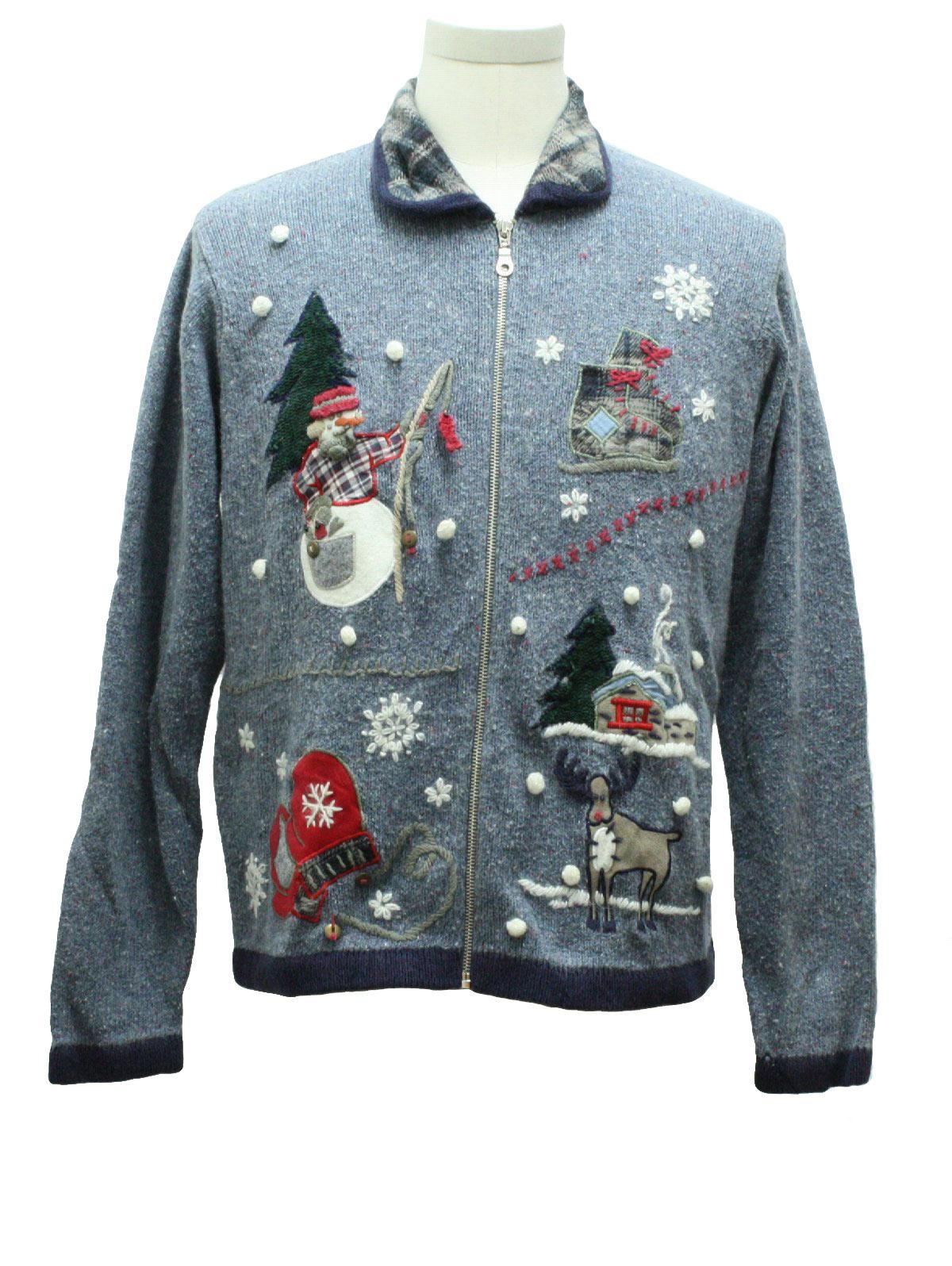 Womens ugly christmas sweater victoria jones womens for Fishing christmas sweater