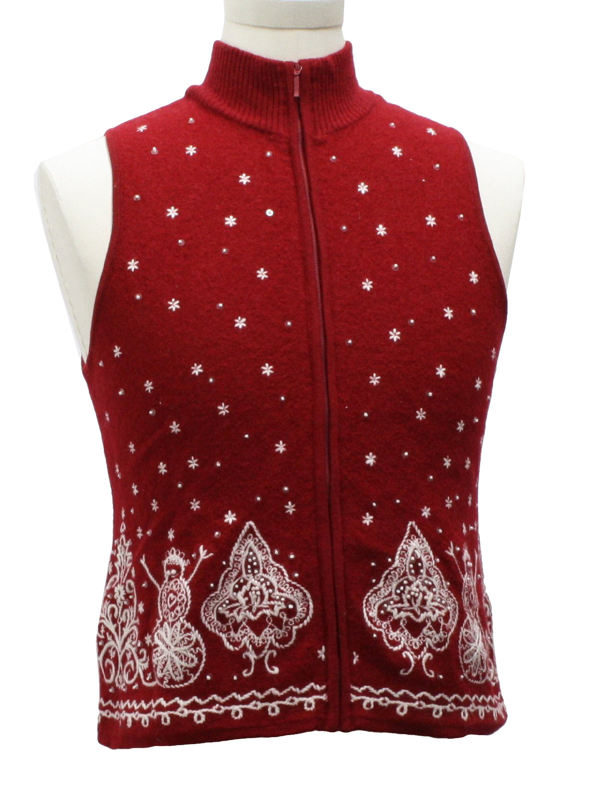 Womens/Girls Ugly Christmas Sweater Vest: -Talbots Petites- Girls ...