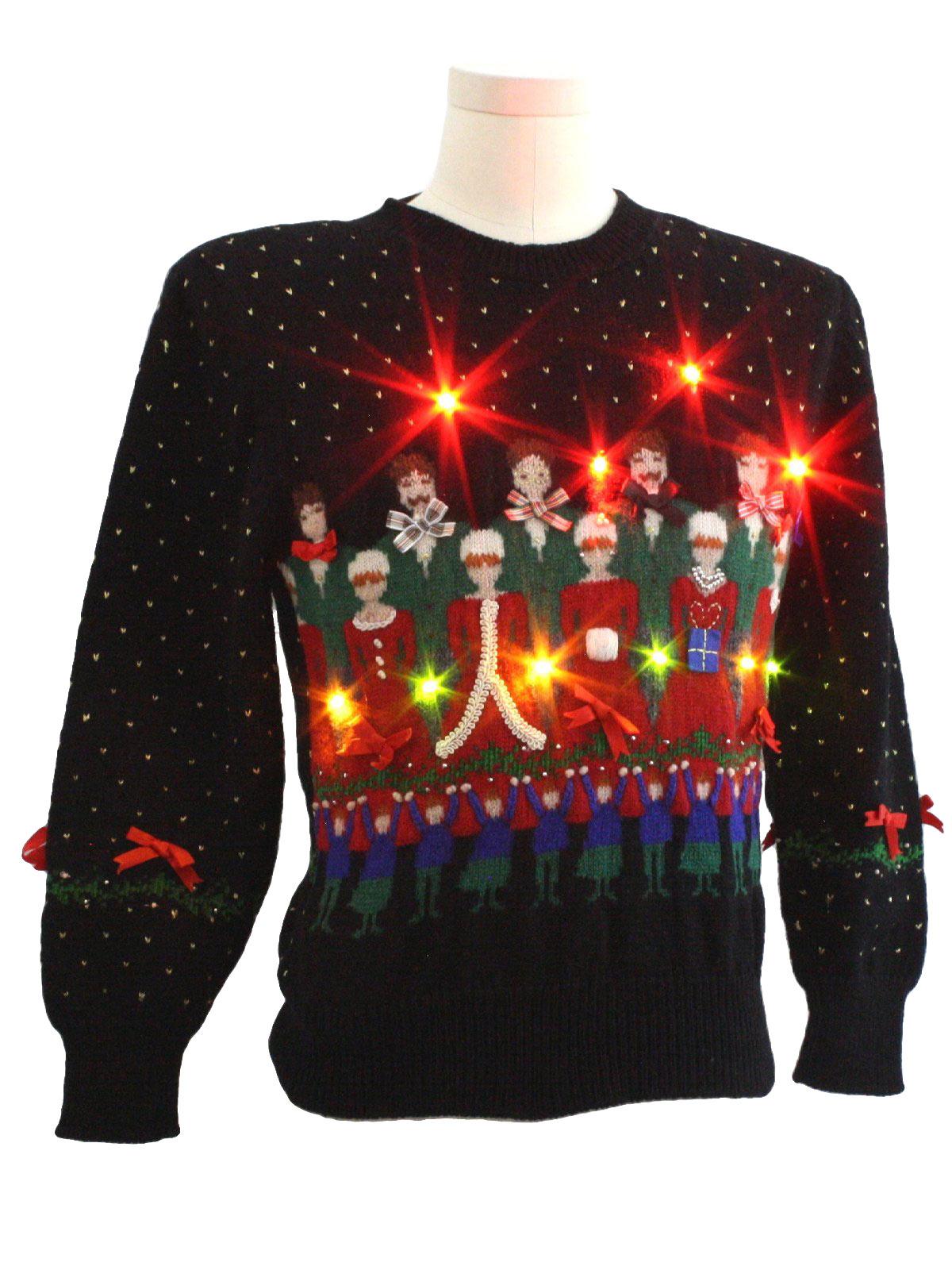 Womens Girls Lightup Ugly Christmas Sweater Susan