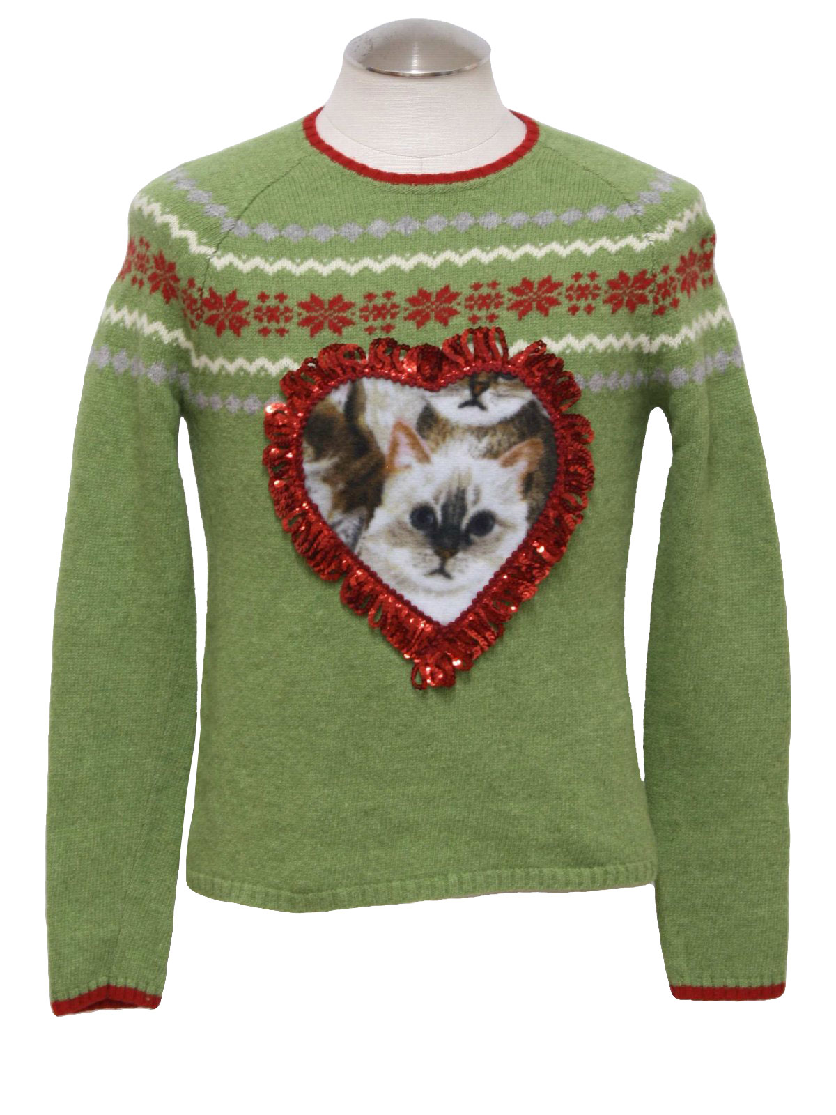 Womens/Girls Ugly Christmas Catmus Sweater: -Old Navy- Love ...