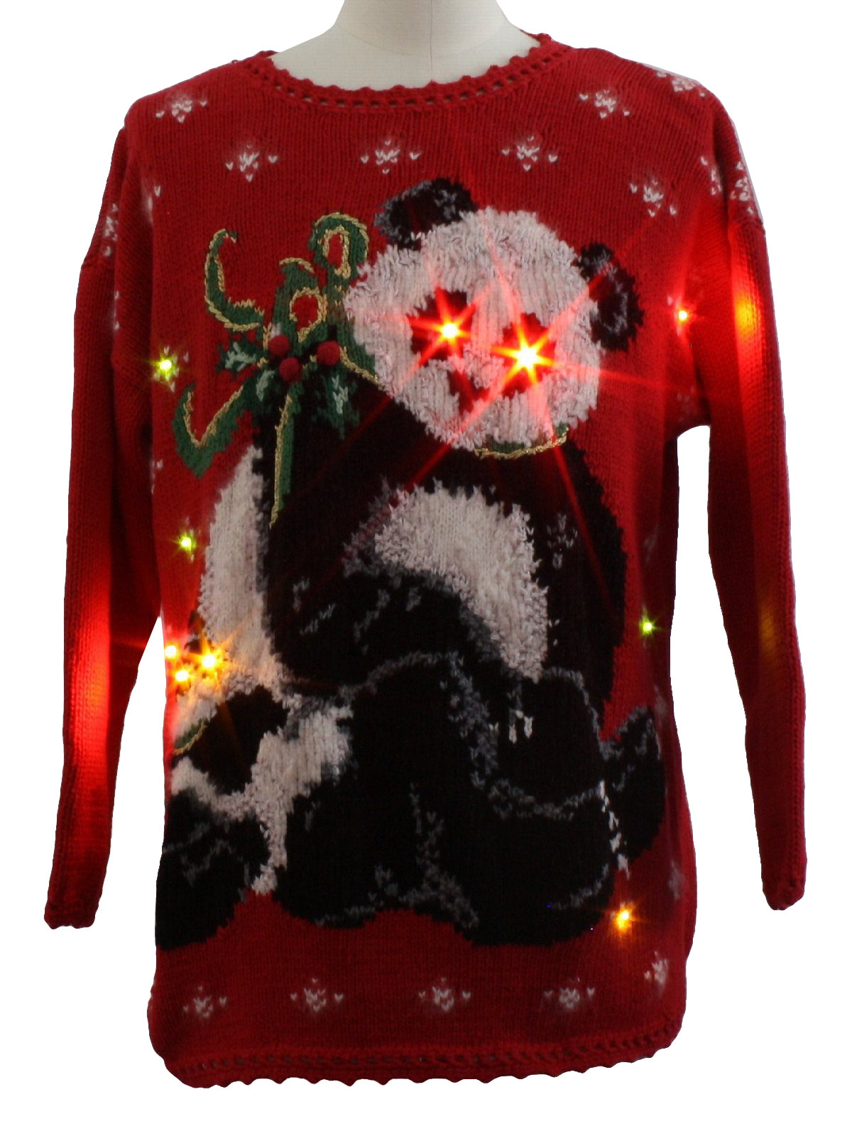 Lightup Bear Riffic Ugly Christmas Sweater Tiara Unisex