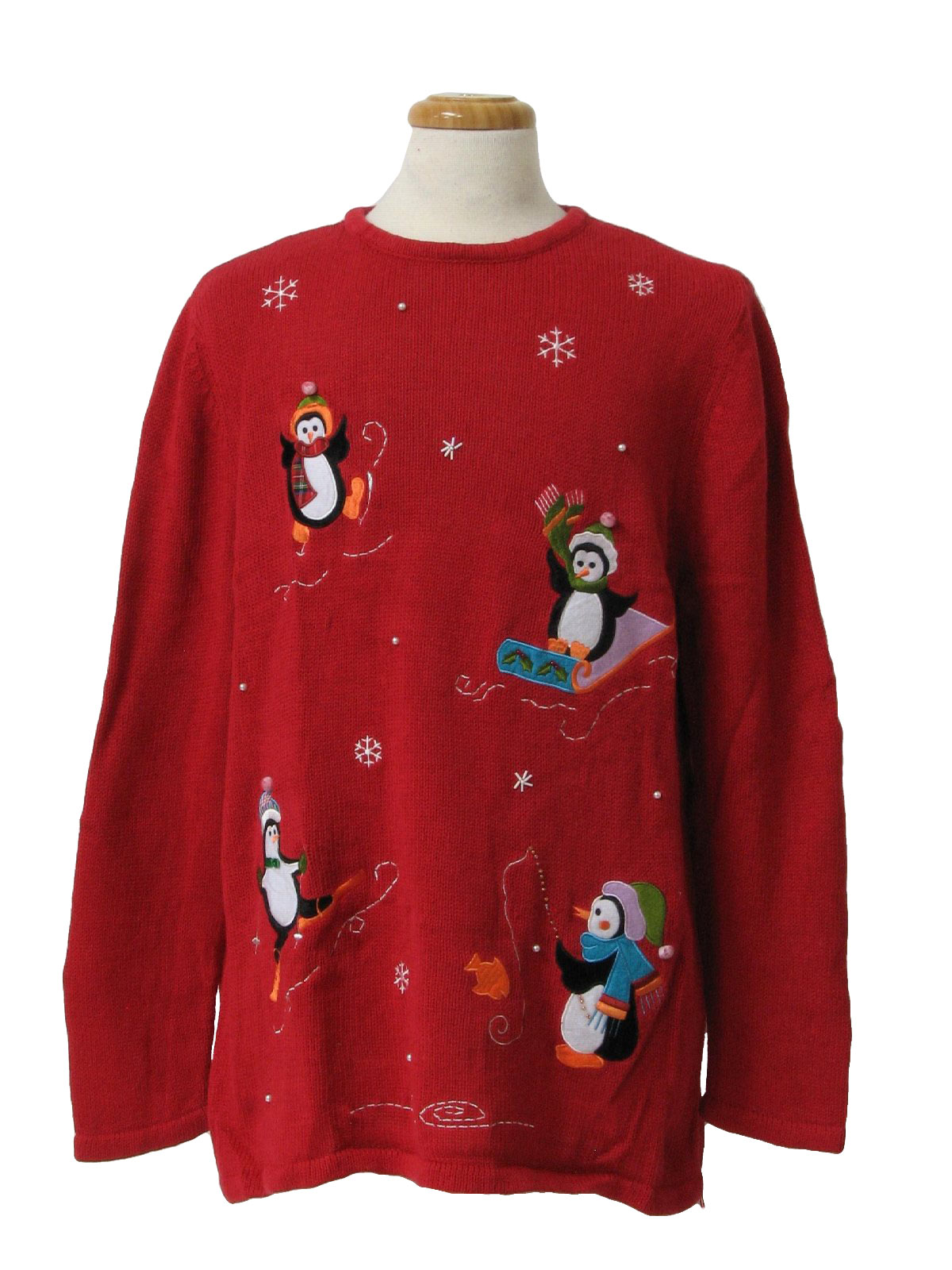 80 39 s vintage ugly christmas sweater 80s holiday editions for Fishing christmas sweater