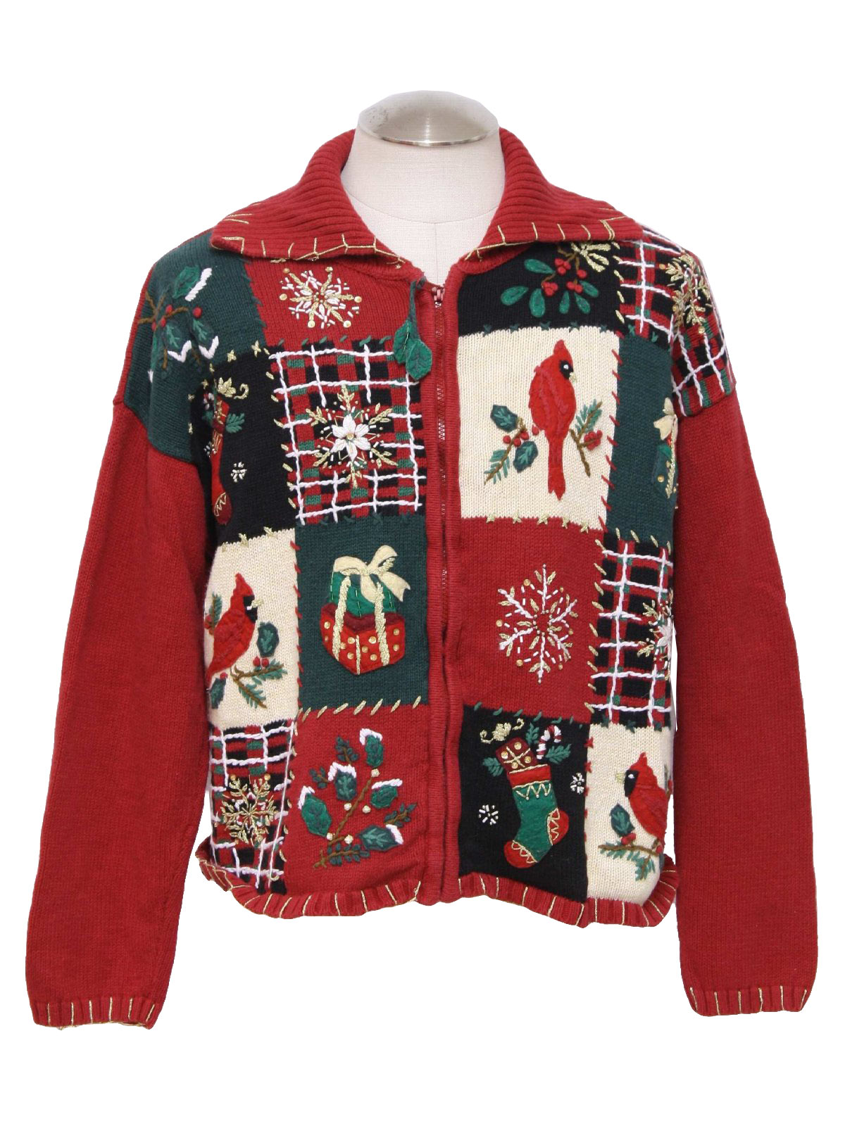Ugly christmas sweater tiara unisex red background for Over the top ugly christmas sweaters