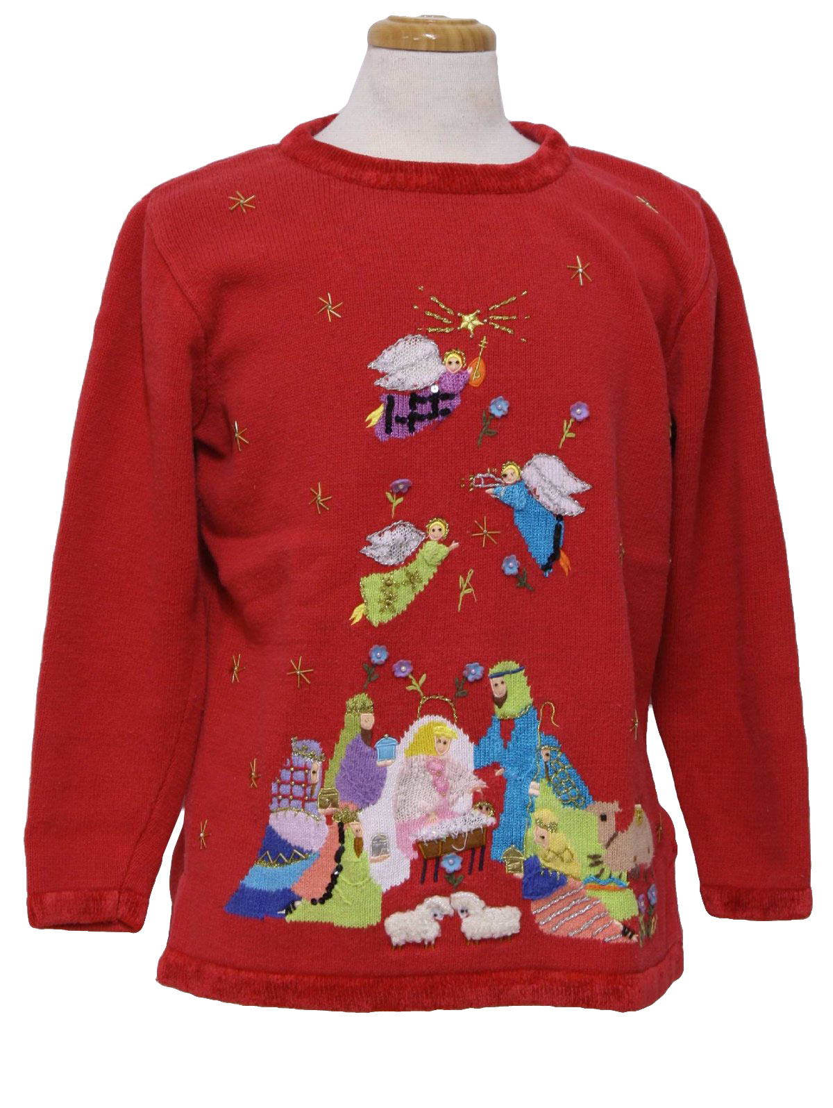 Nativity Scene Ugly Christmas Sweater : -Quacker Factory- Unisex ...