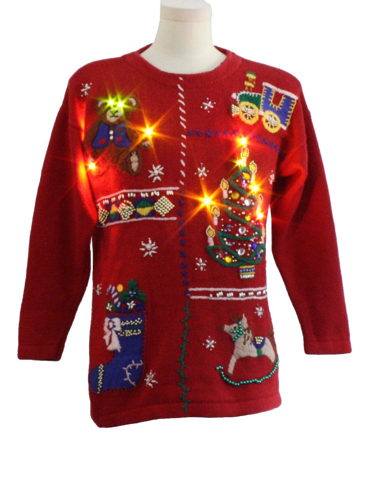 Lightup Ugly Christmas Sweater Victoria Jones Unisex