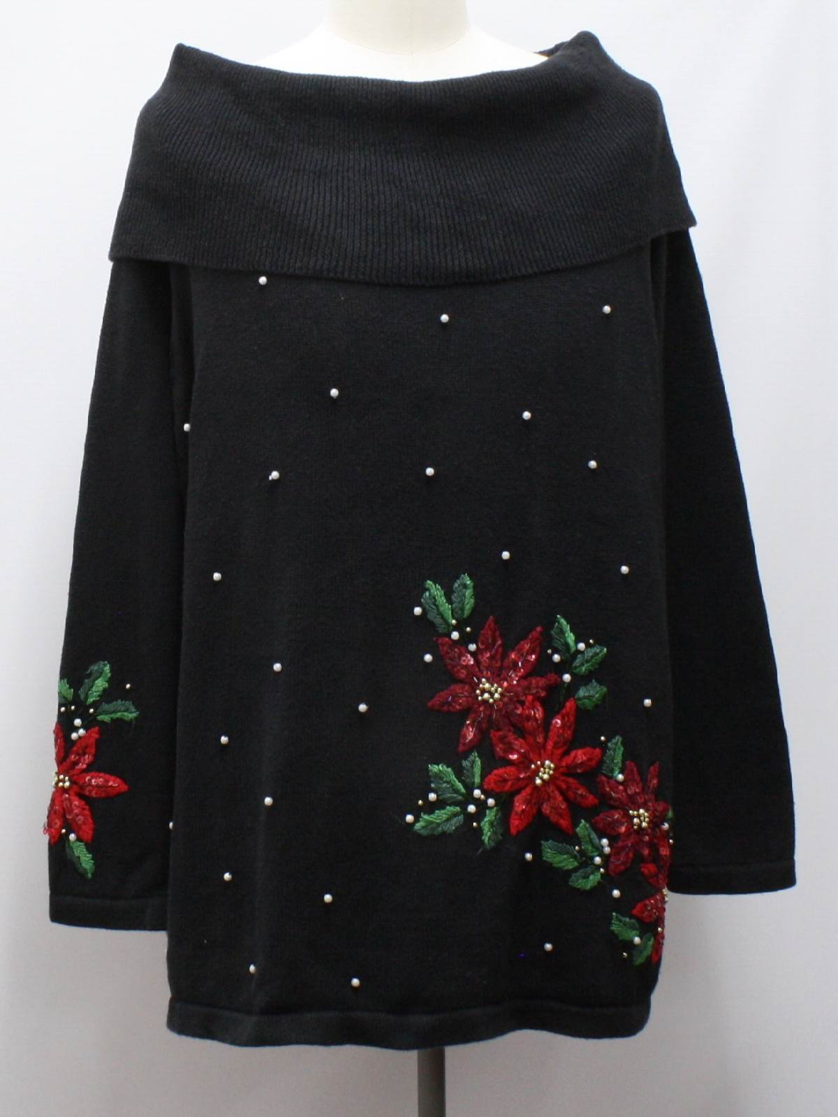 Womens Oversized Slouch Fit Ugly Christmas Sweater: -Victoria Jones
