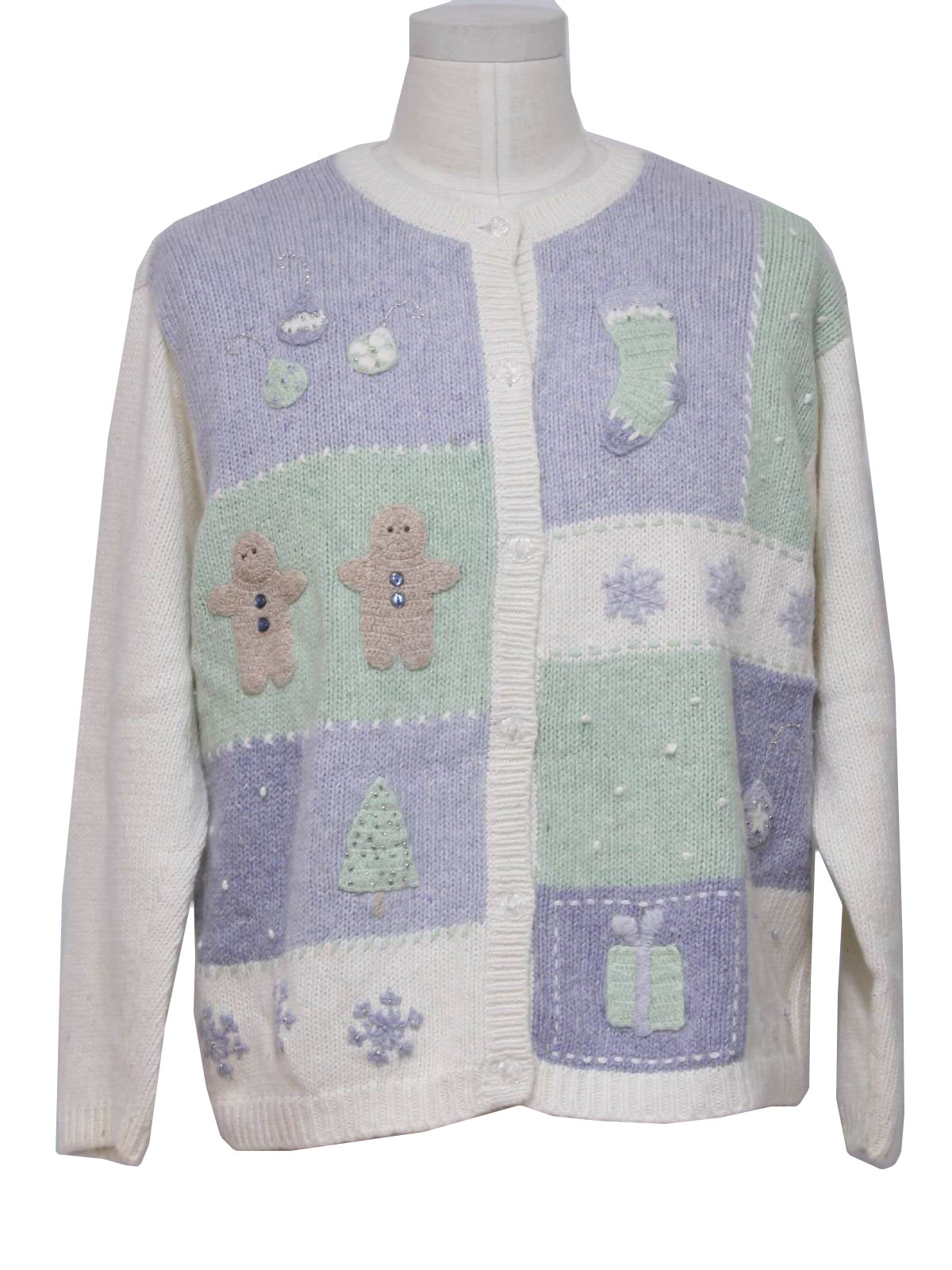 Womens Pastel Ugly Christmas Sweater: -Croft & Barrow- Womens off ...