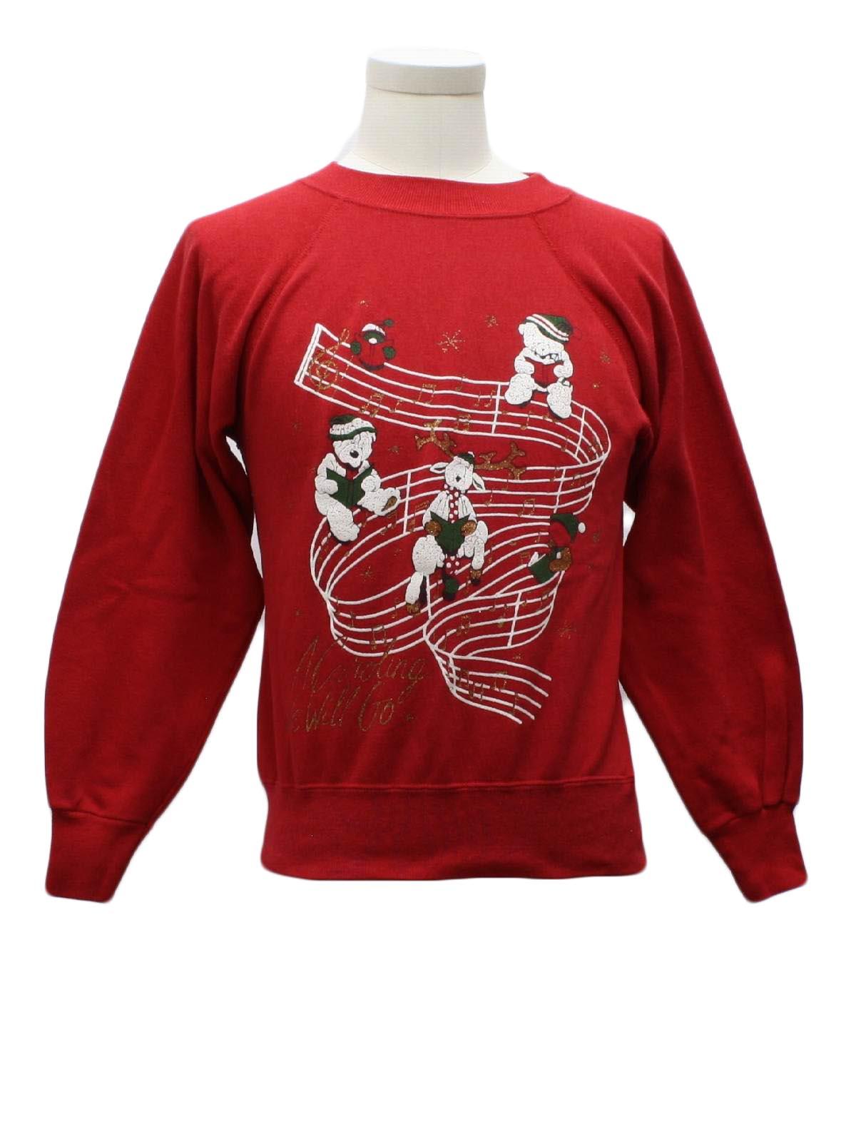 1980's Ultra Sweats Womens/Girls Ugly Christmas Sweatshirt $26.00 Not in stock. Item No. 241580