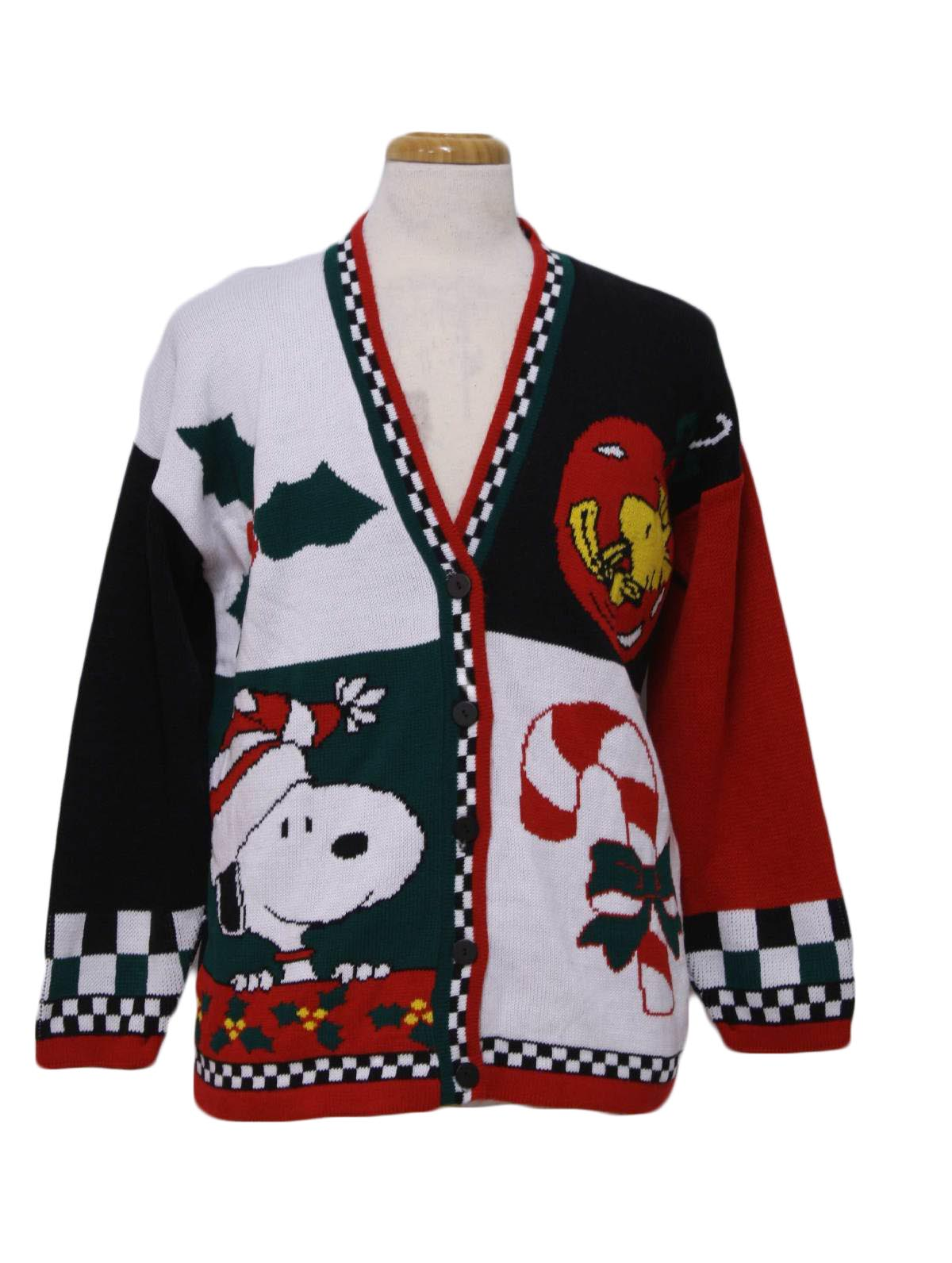 Retro 80's Vintage Snoopy Ugly Christmas Sweater: 80s authentic ...