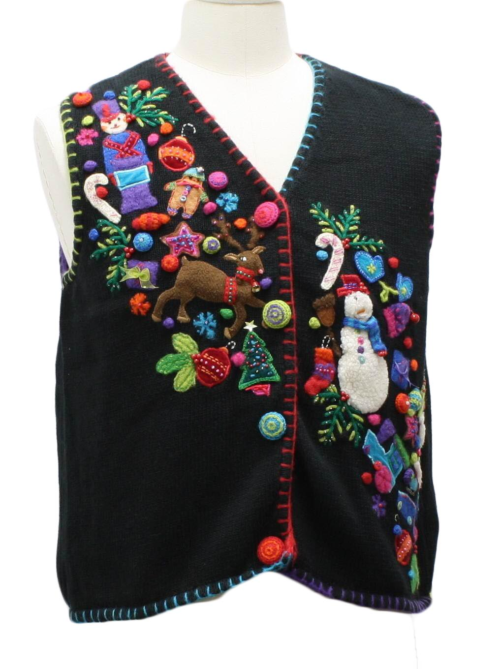 Marisa Christina Womens Ugly Christmas Sweater Vest $34.00 Not in stock. Item No. 241978