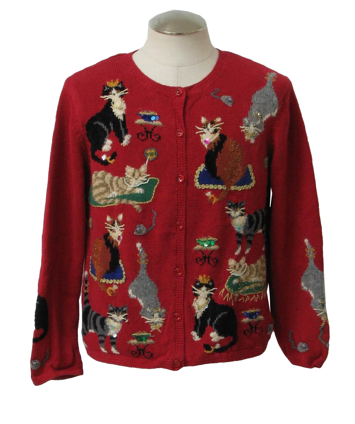 Cheap Ugly Christmas Sweater with Cat