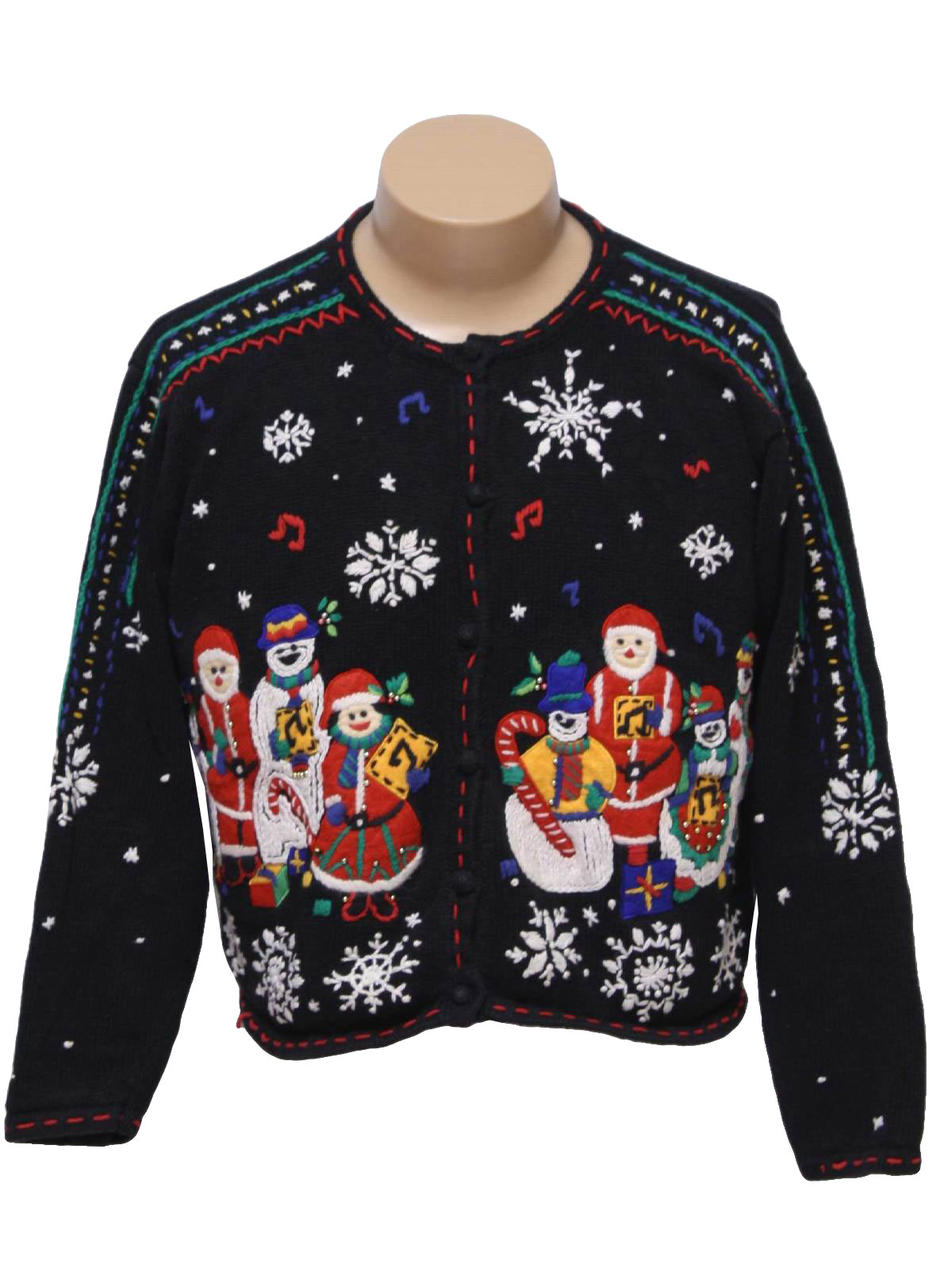 musical notes sweater womens ugly christmas sweater designers originals studio 6969