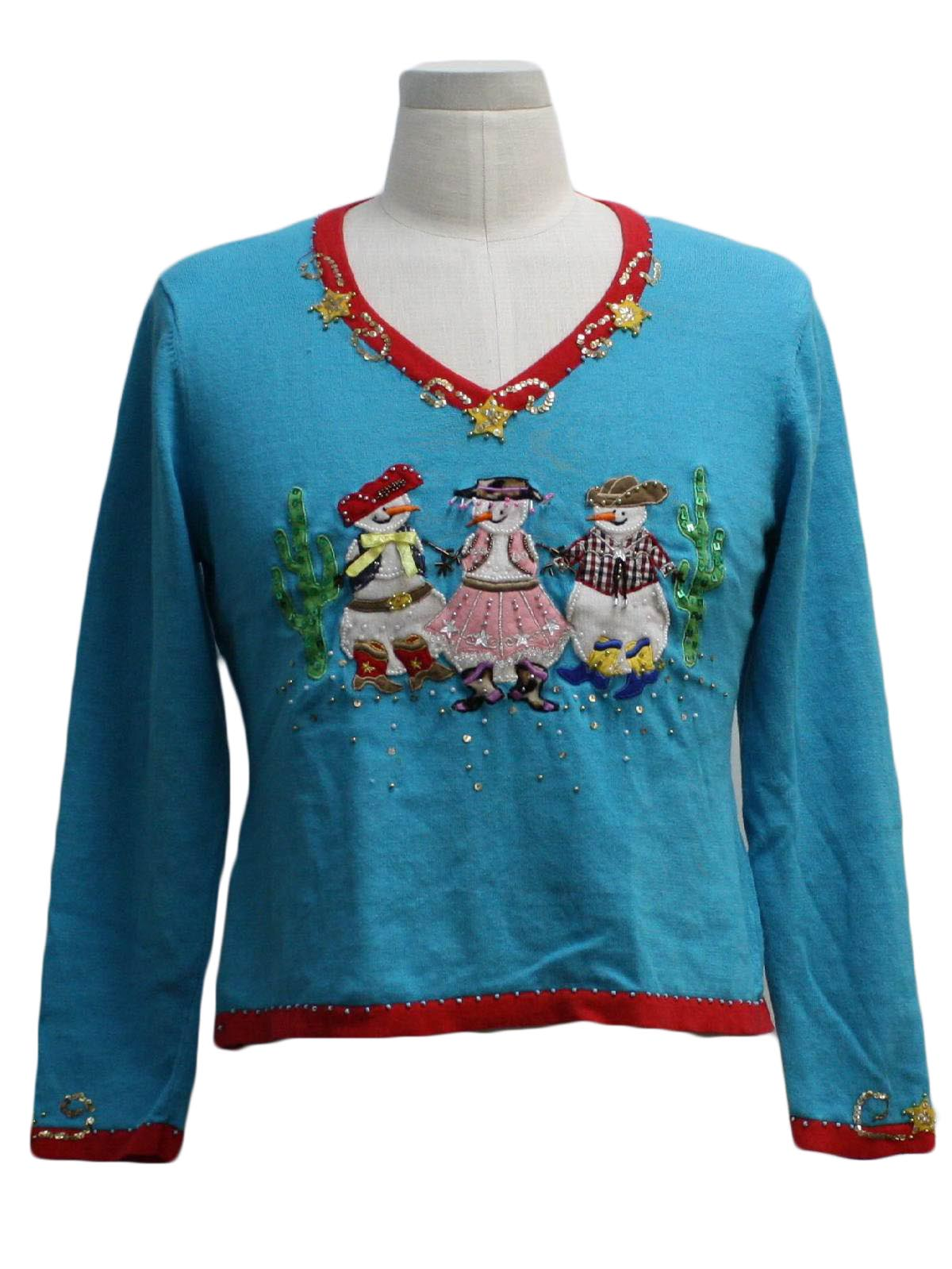 Womens Western Themed Ugly Christmas Sweater Jack B