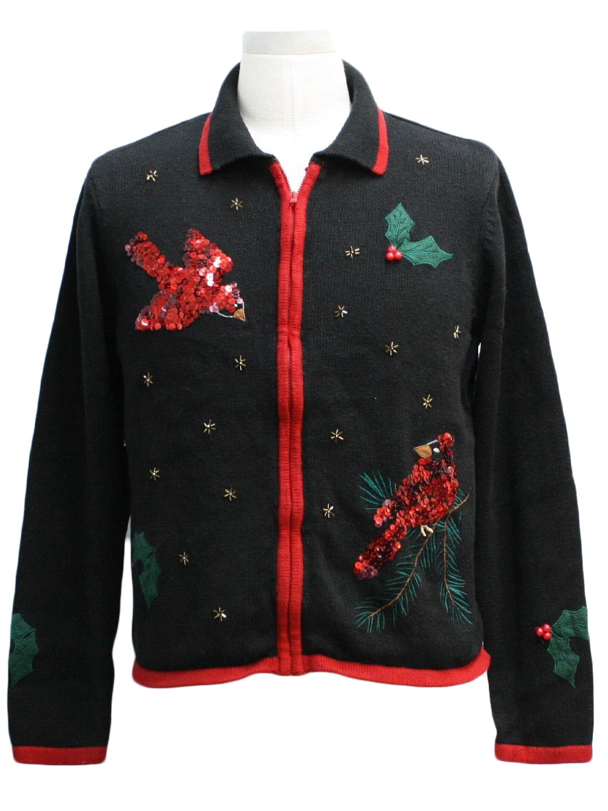 Ugly christmas sweater jason maxwell unisex black for Over the top ugly christmas sweaters