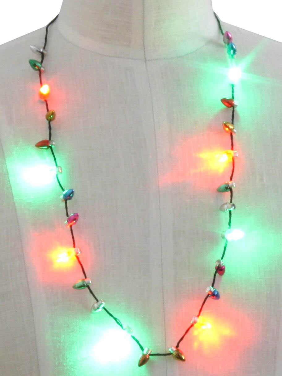 lites flashing holiday necklace unisex accessories lightup necklace ...